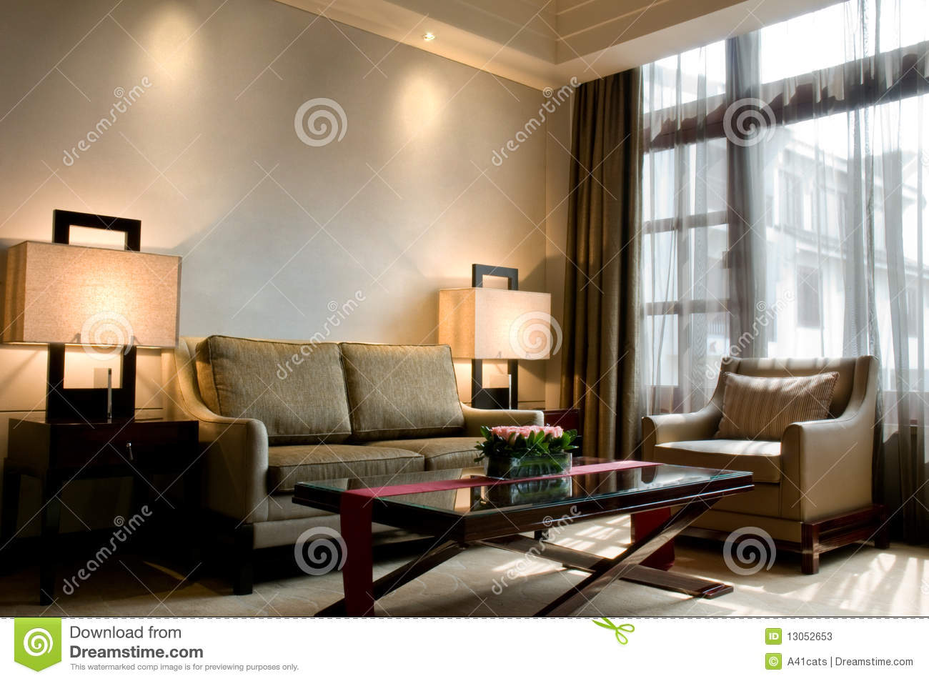 Living Room Of A Luxury 5 Star Hotel Suite Stock Photos