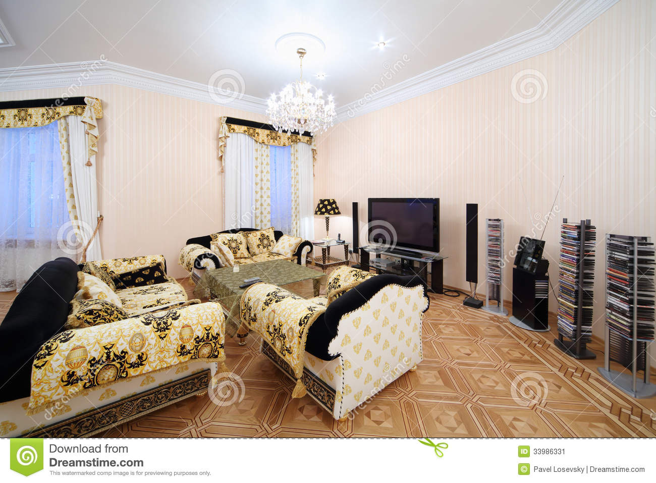 Living Room With Luxury Furniture In Classic Style Stock Image Image 33986331