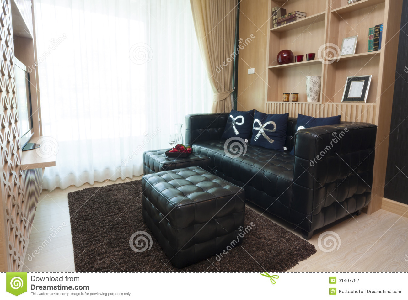 Living room stock photo image of gadget condominium for Modern living room gadgets