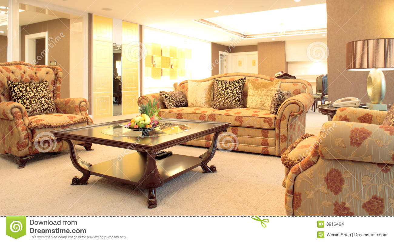 Living Room Of Luxury Suite Stock Images Image 8816494