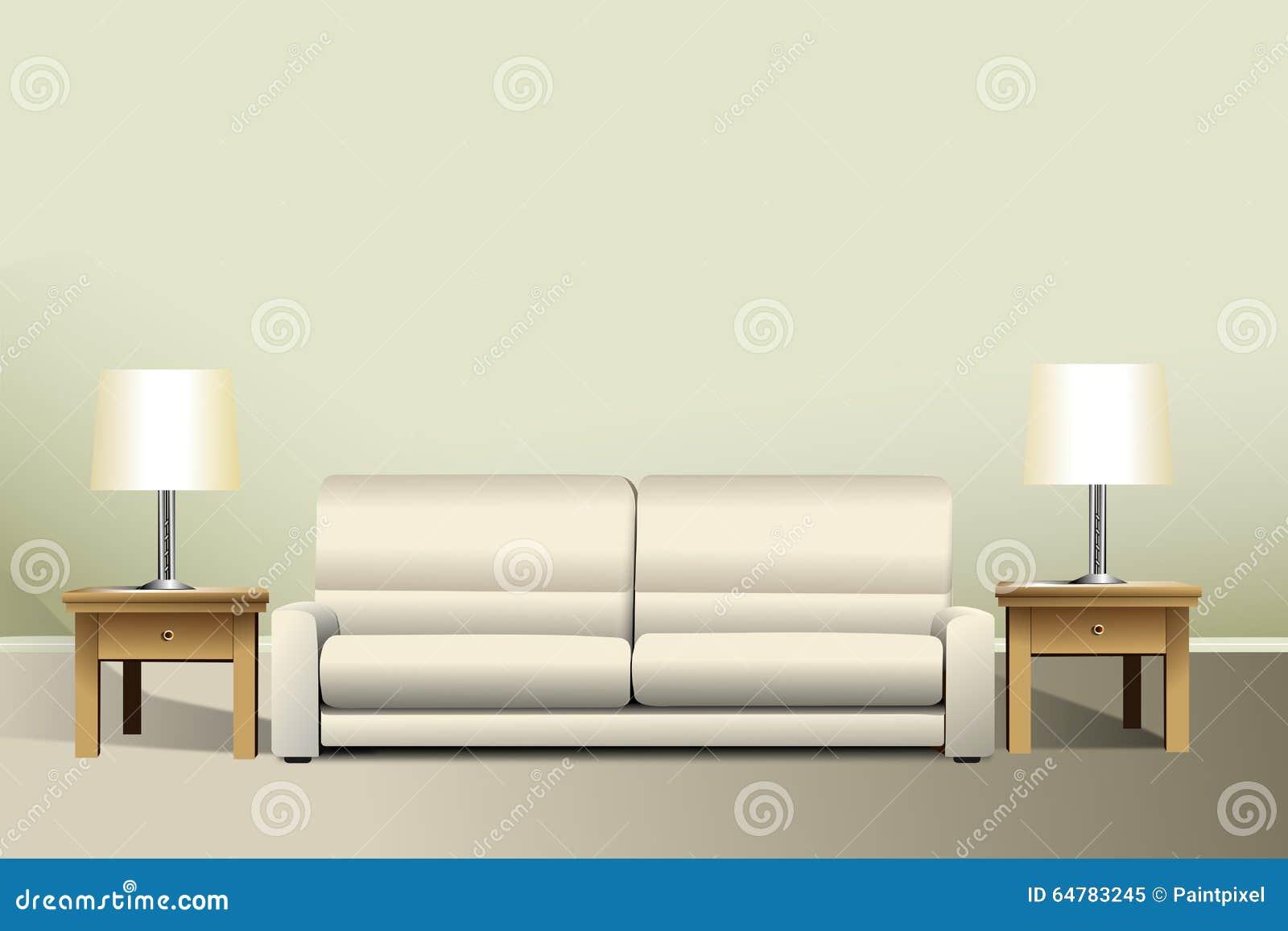 Living Room Mockup Stock Illustration Image 64783245 : living room mockup interior sofa two end lamp tables 64783245 from www.dreamstime.com size 1300 x 957 jpeg 60kB