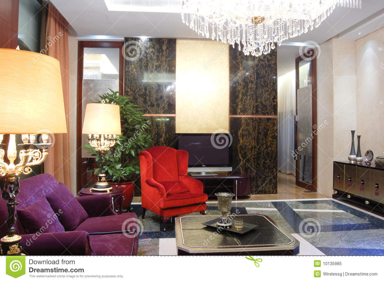 Modern Chinees Interieur : Living room modern chinese style stock image image of