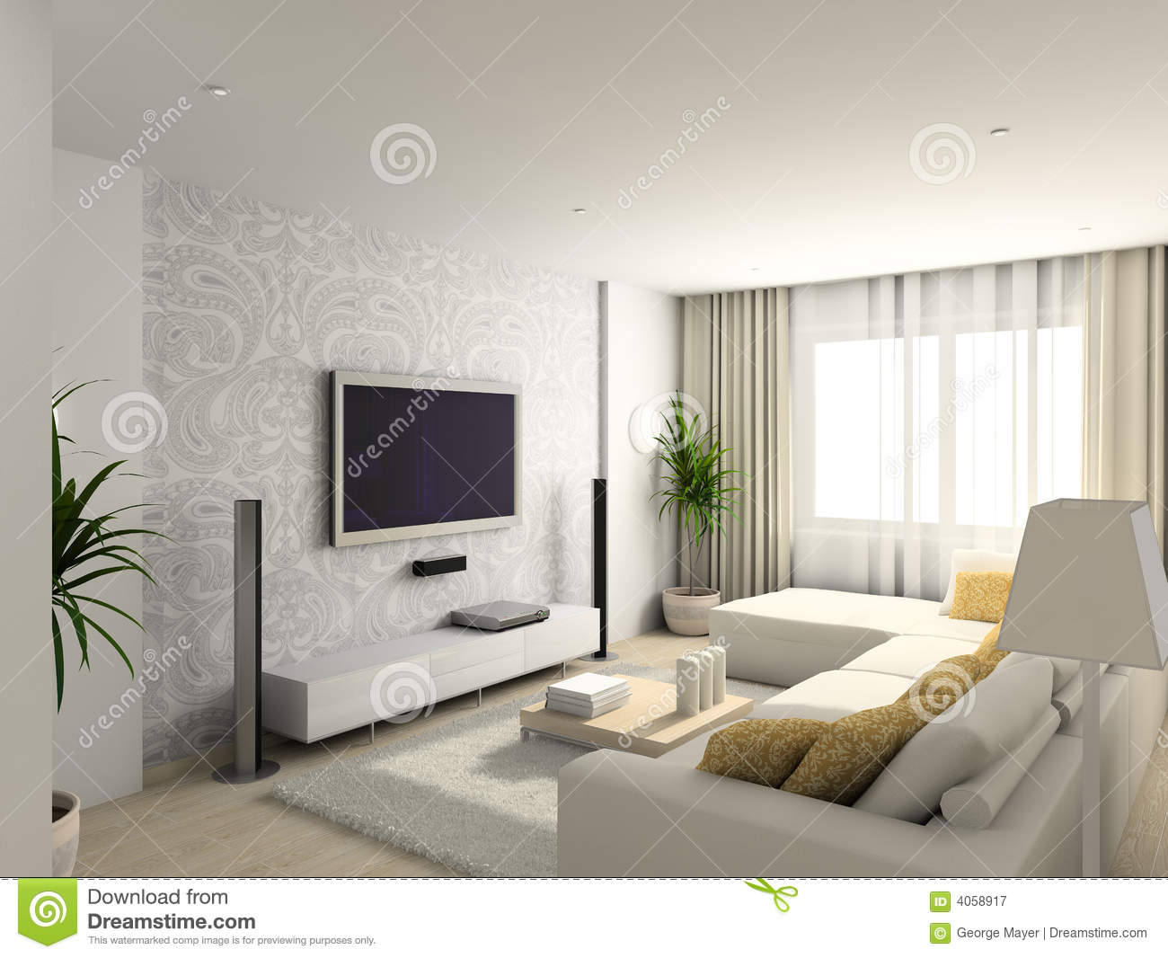 Modern Furniture For Living Room Living Room With The Modern Furniture Royalty Free Stock