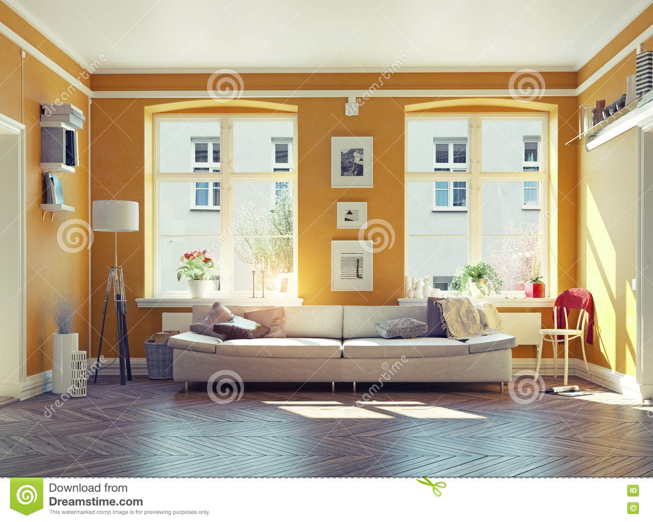 Living Room Stock Illustration Image 62543644