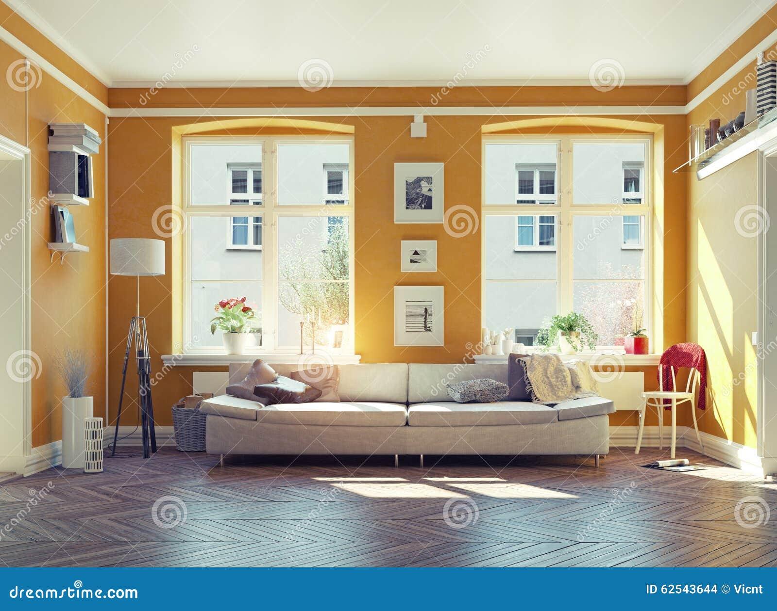 Living Room Stock Illustration Image 62543644
