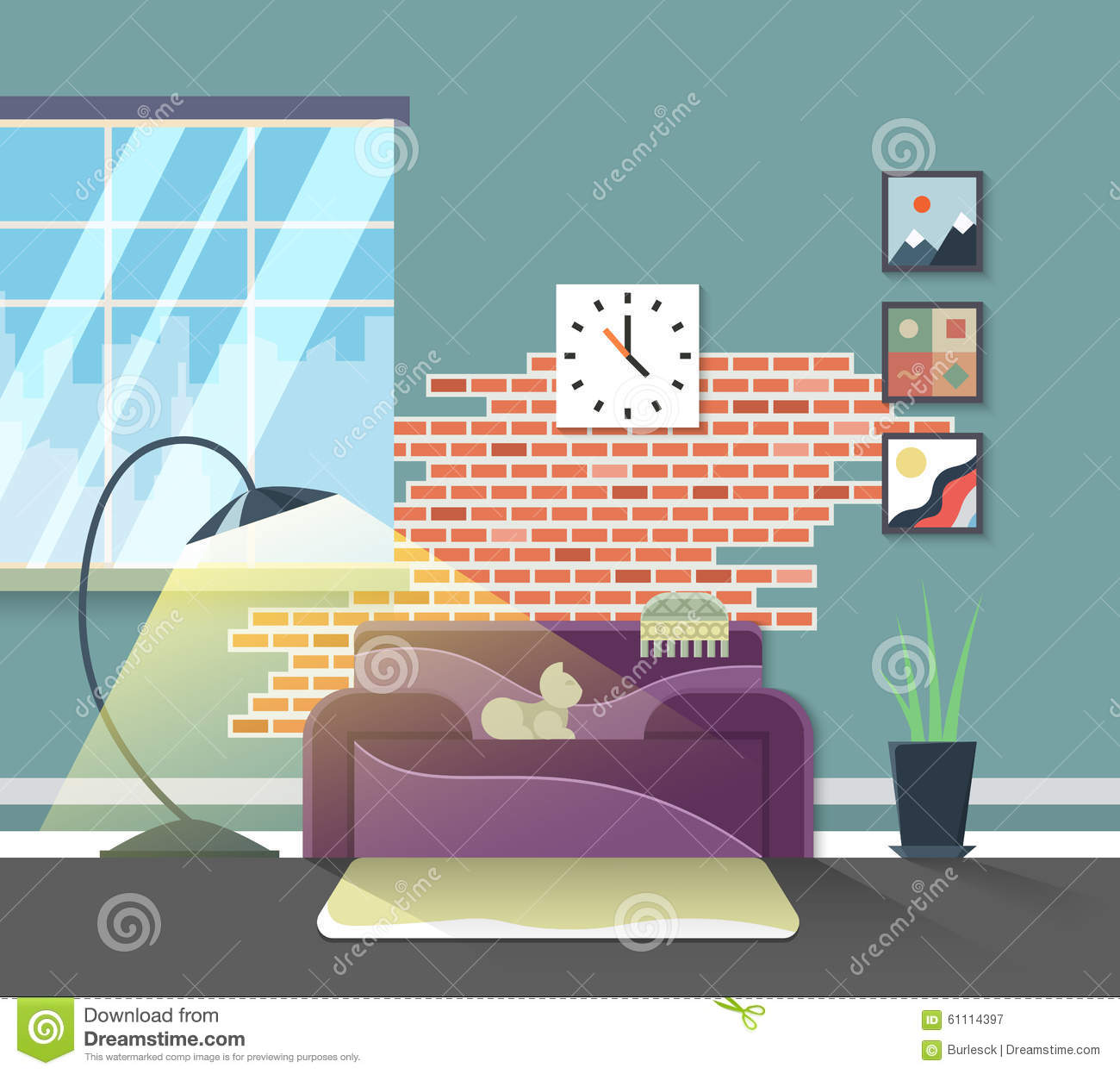 Modern Home Living Room Royalty Free Stock Photography