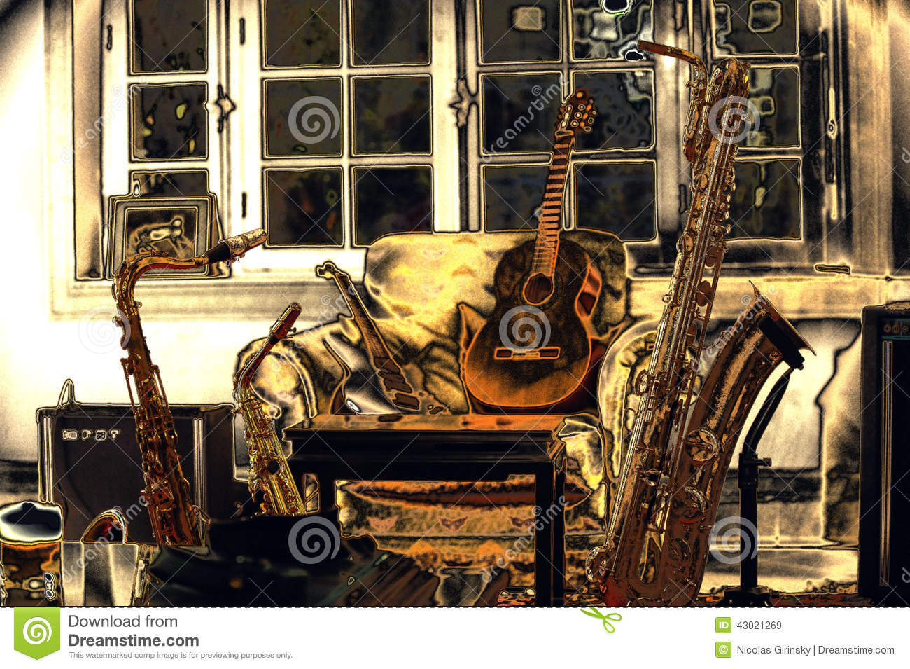 Living Room Music Stock Photo Image 43021269