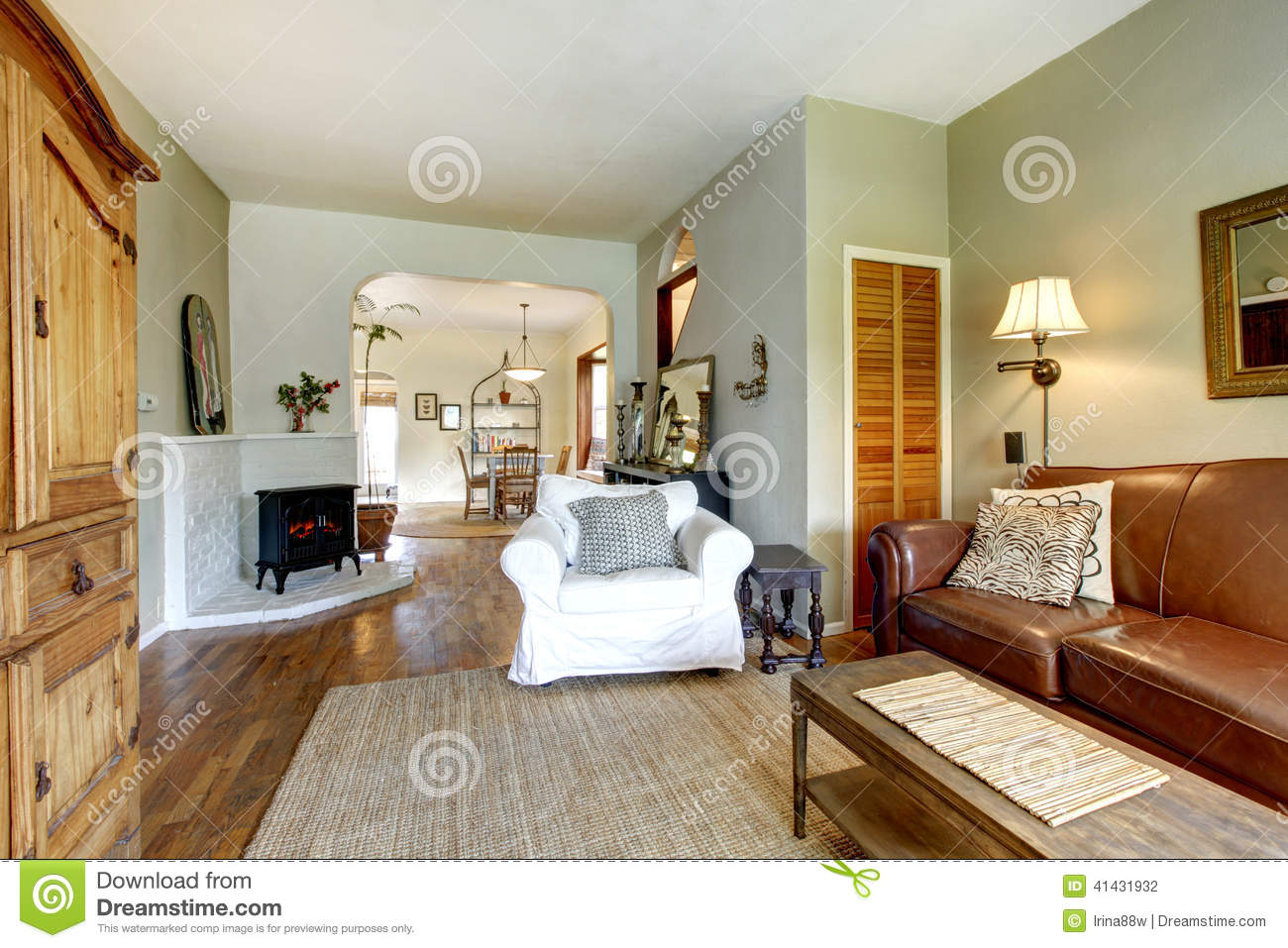 Living room in old house with antique furniture stock for Classic house furniture galleries