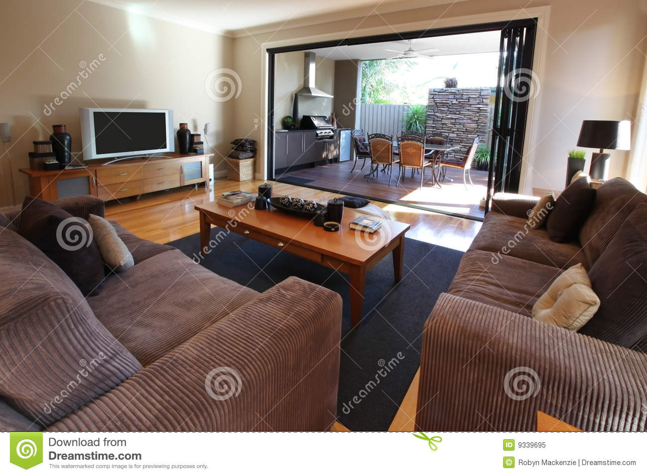 Living Room And Patio Royalty Free Stock Photo Image
