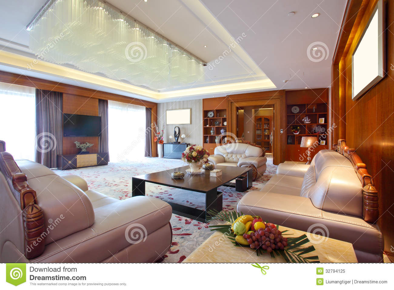 Living room of presidential suite at the day time royalty for 5 star living rooms