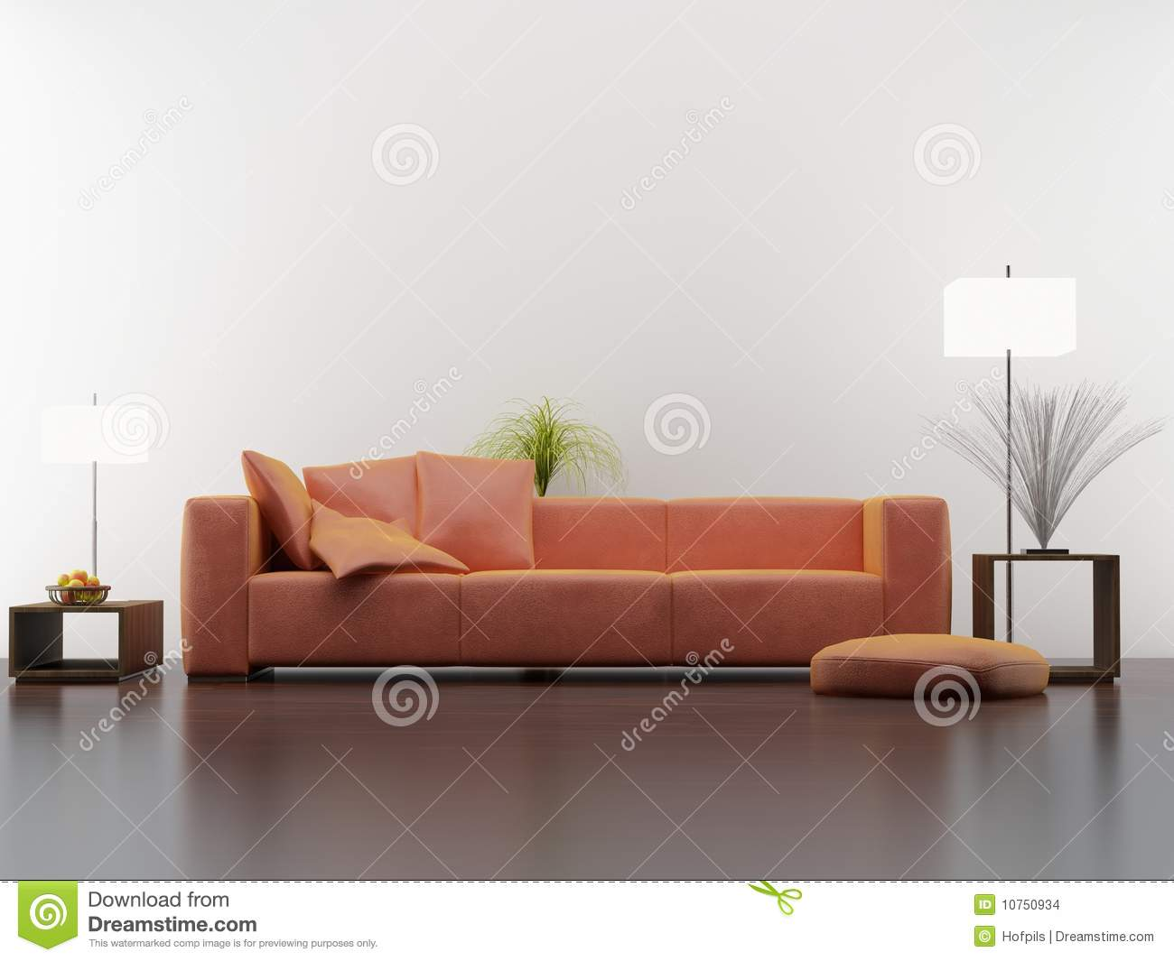 Blank Wall Living Room