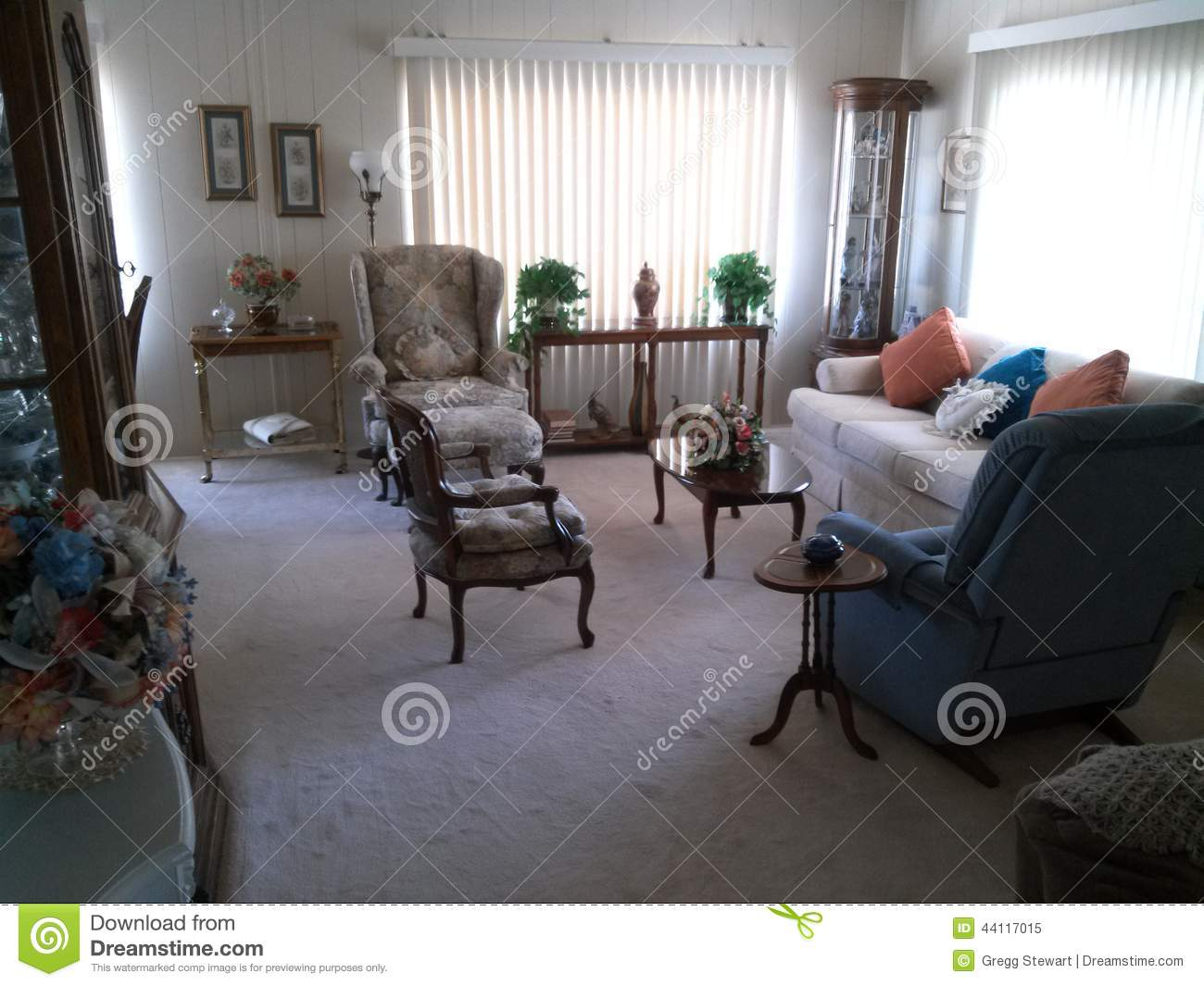 Living room stock image image of sofa front table for Front room sets