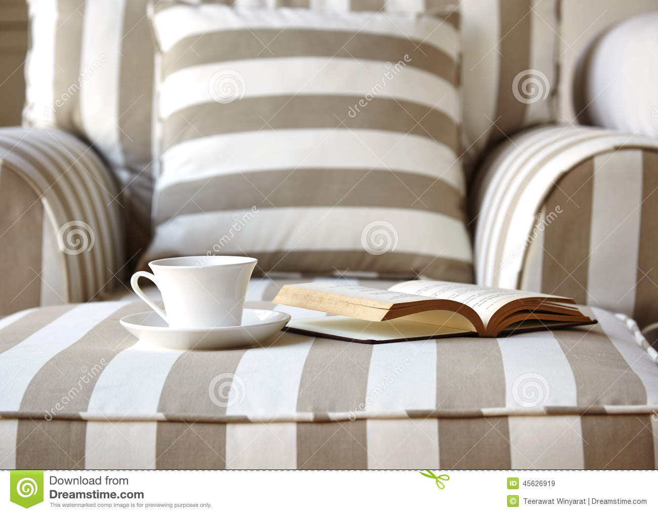 sofa with coffee and book home interior lifestyle stock photo living room sofa with coffee and book royalty free stock images