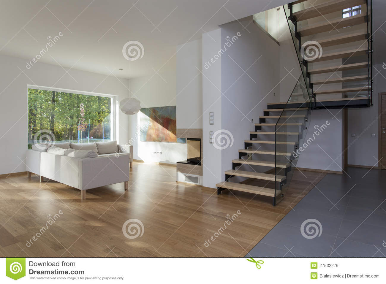 Living Room Stairs Royalty Free Stock Image Image - Living room with stairs
