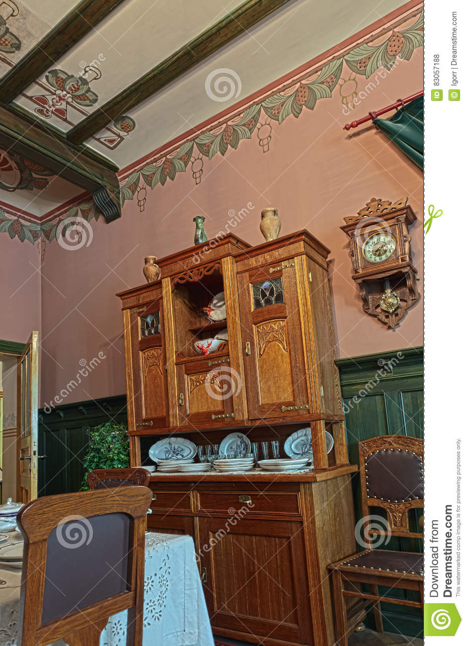19th Century Drawing Room: Living Room Of The 19th Century Editorial Stock Photo