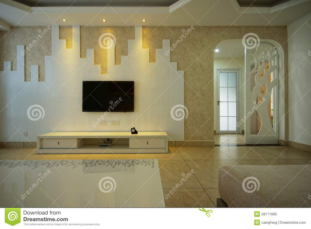Living Room With Tv Royalty Free Stock Image Image 28171066