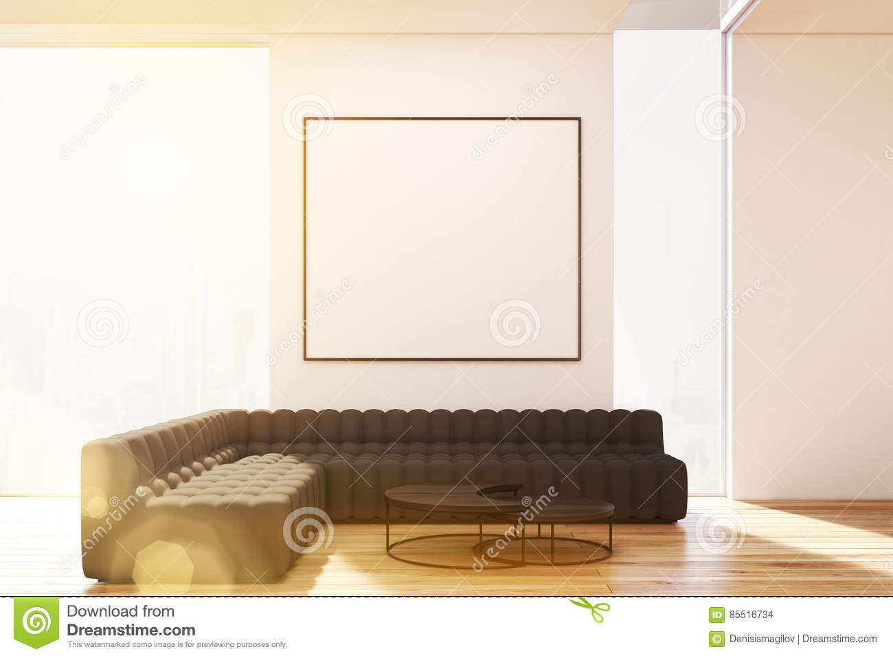 Incredible Living Room With Two Sofas And Poster Toned Stock Dailytribune Chair Design For Home Dailytribuneorg