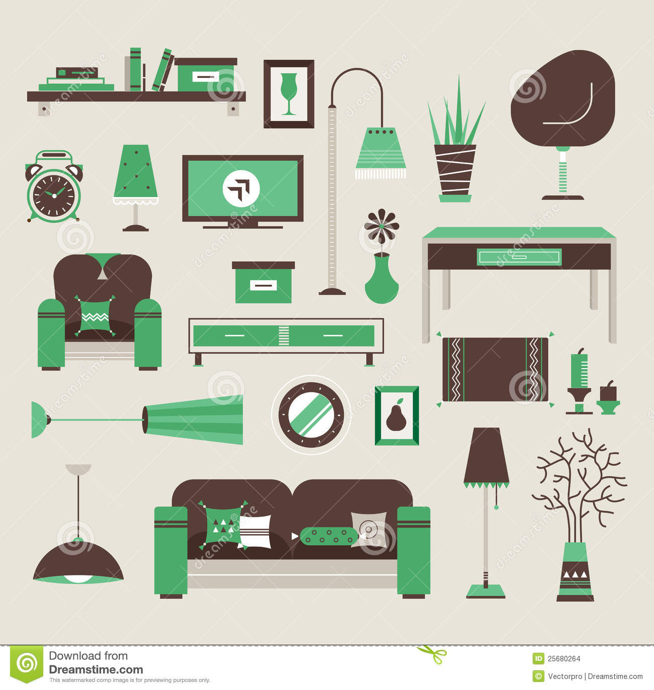 Living Room Vector Stock Vector Image Of Housing