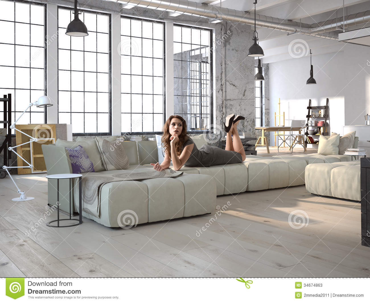 Living Room Stock Illustration Illustration Of Counter