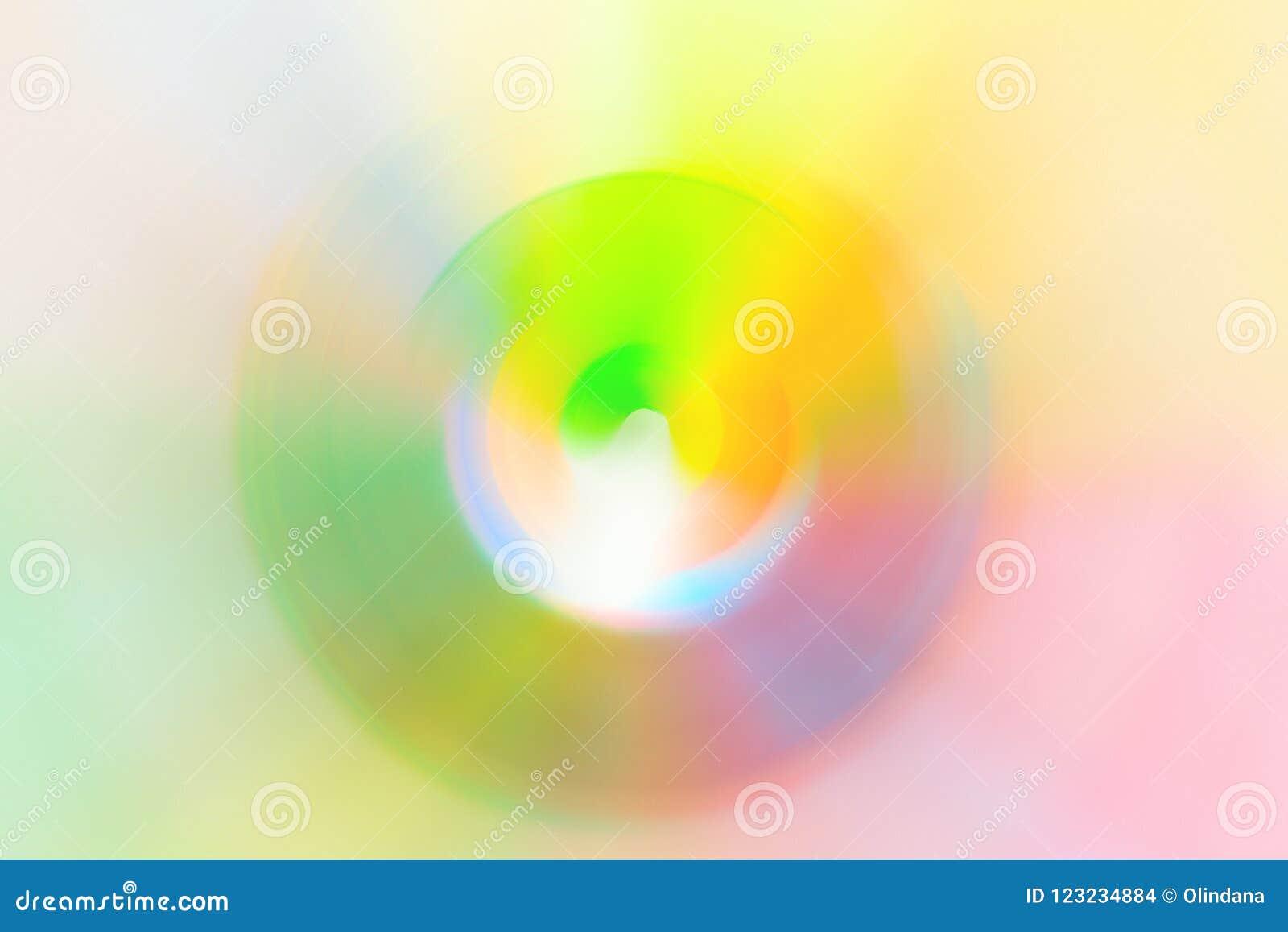 Livliga färger för abstrakt suddigt mångfärgat för bakgrundsspektrum för virvel radiellt neon Hallucination för hypnos för vetens