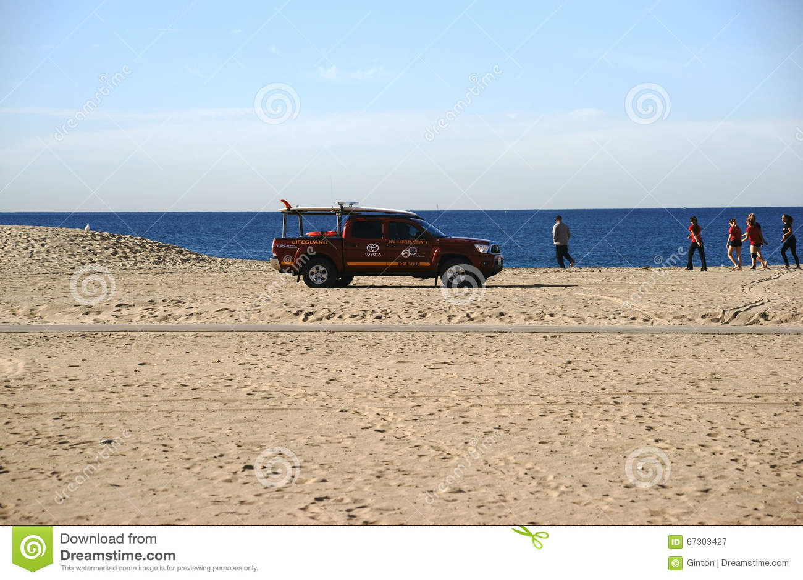 Livräddare Patrol på stranden