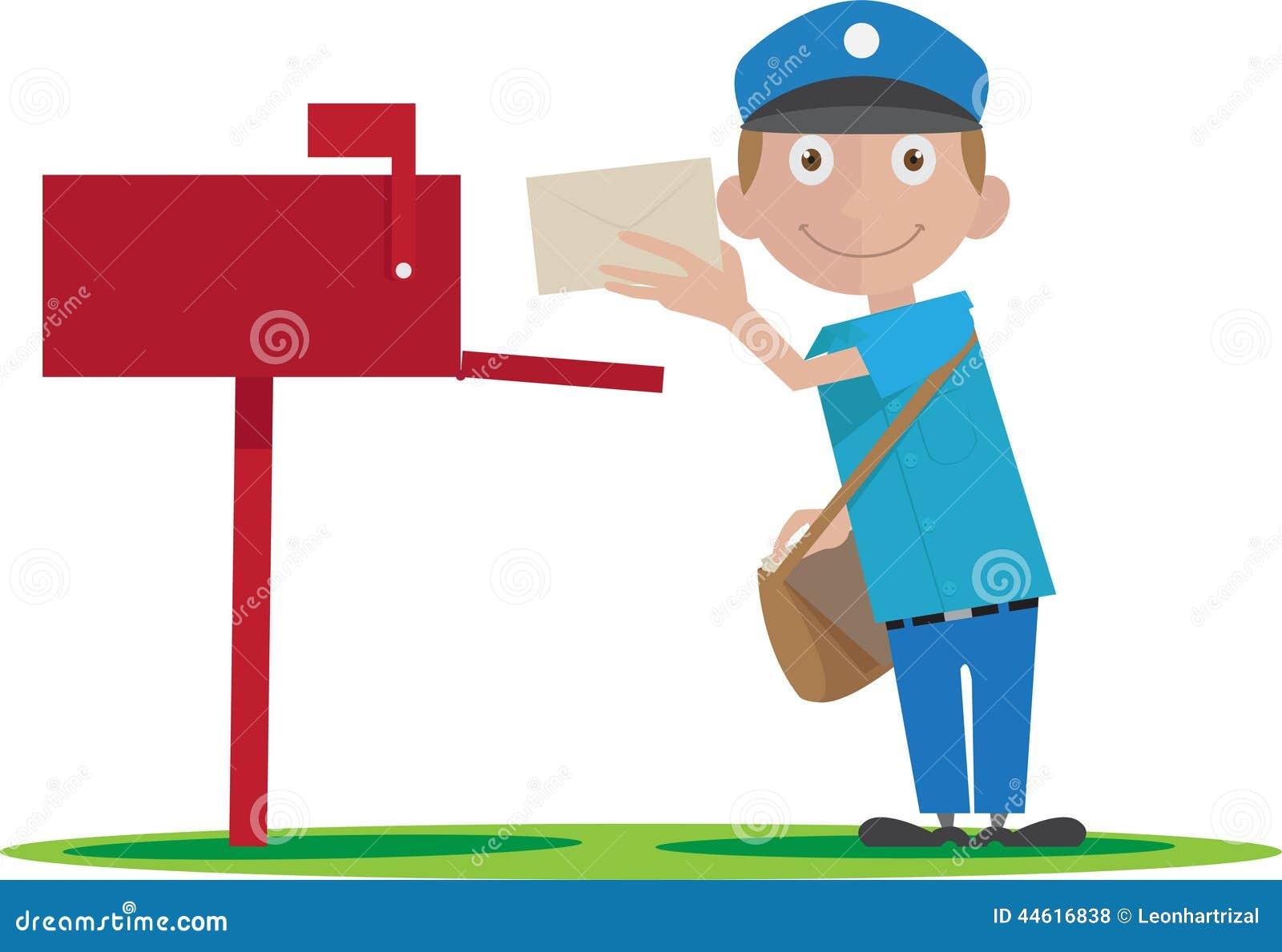 Image Courrier livraison du facteur de courrier illustration de vecteur