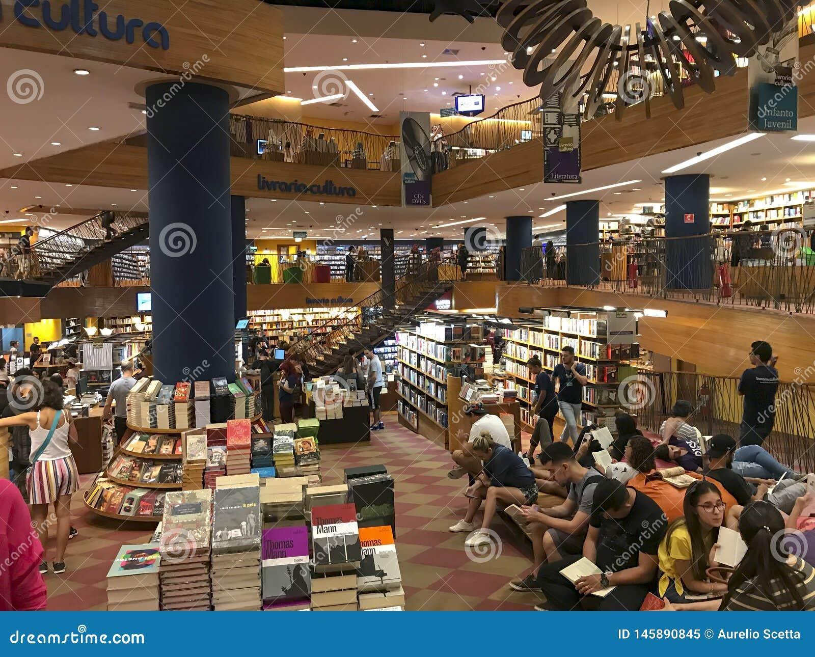 Livraria Cultura, libreria tradizionale nella citt? di Sao Paulo