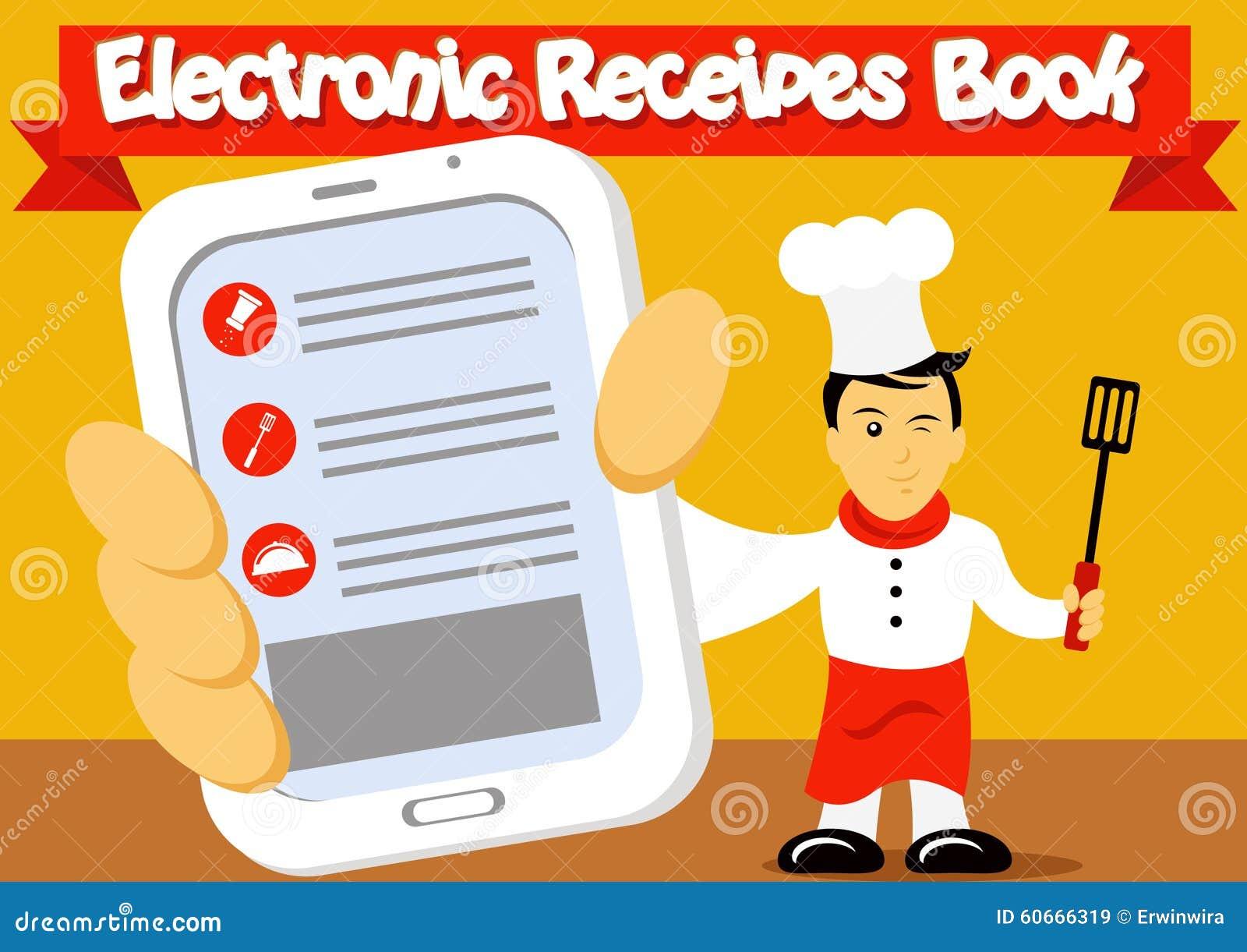 Livre Electronique De Recettes Illustration De Vecteur