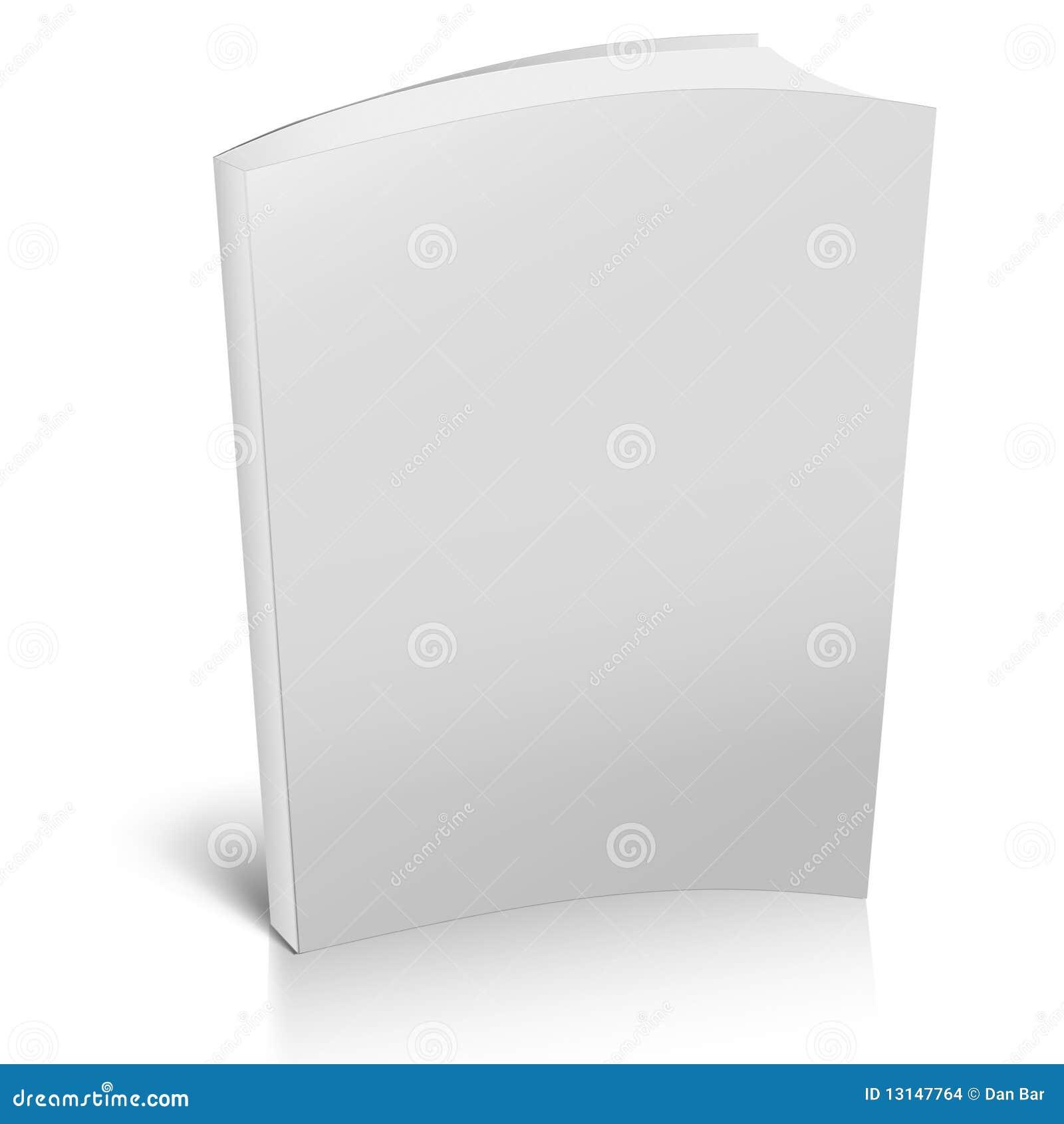 Livre 3d Avec Les Caches Blanc Illustration Stock