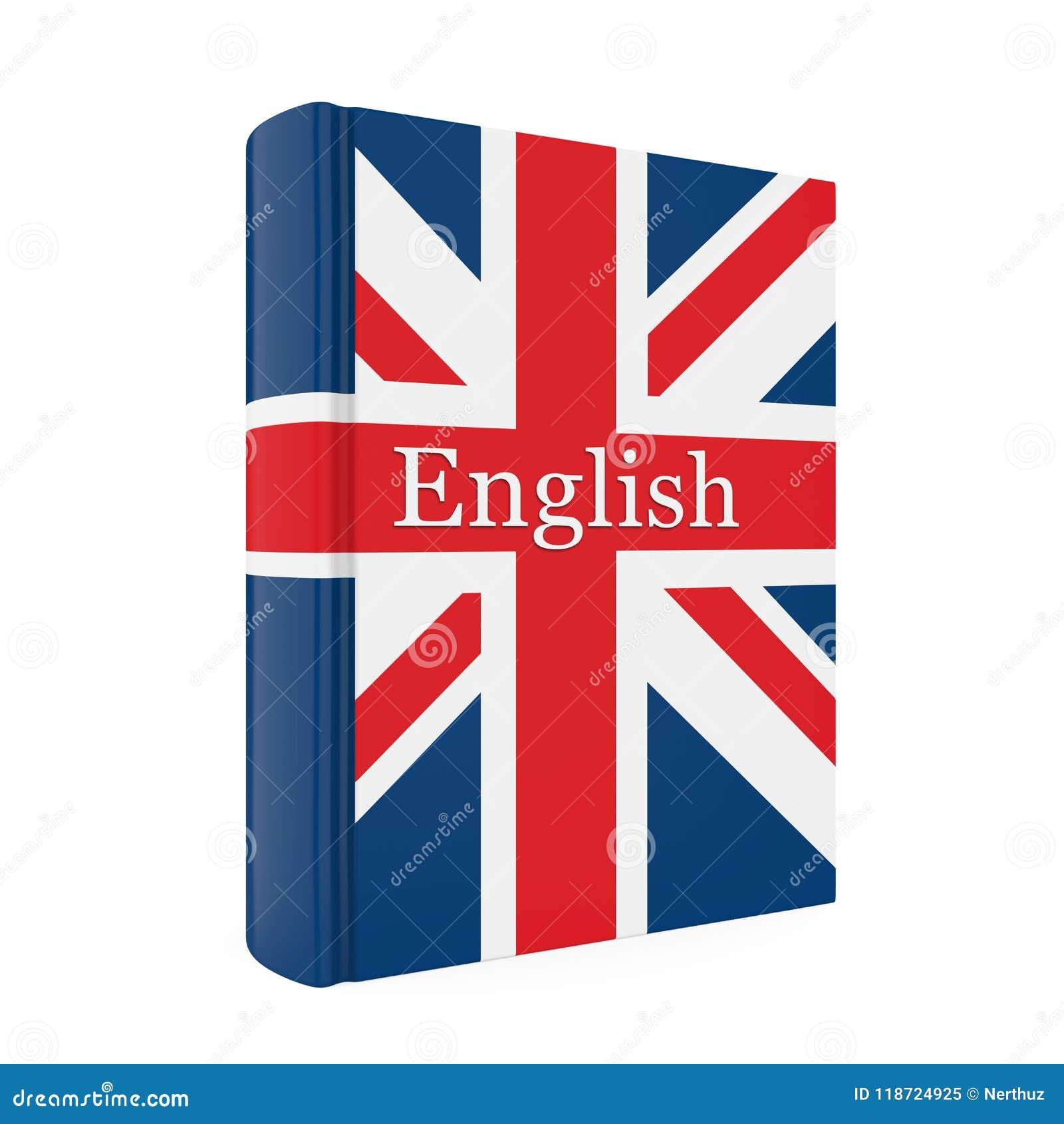 Livre Anglais De Dictionnaire D Isolement Illustration Stock