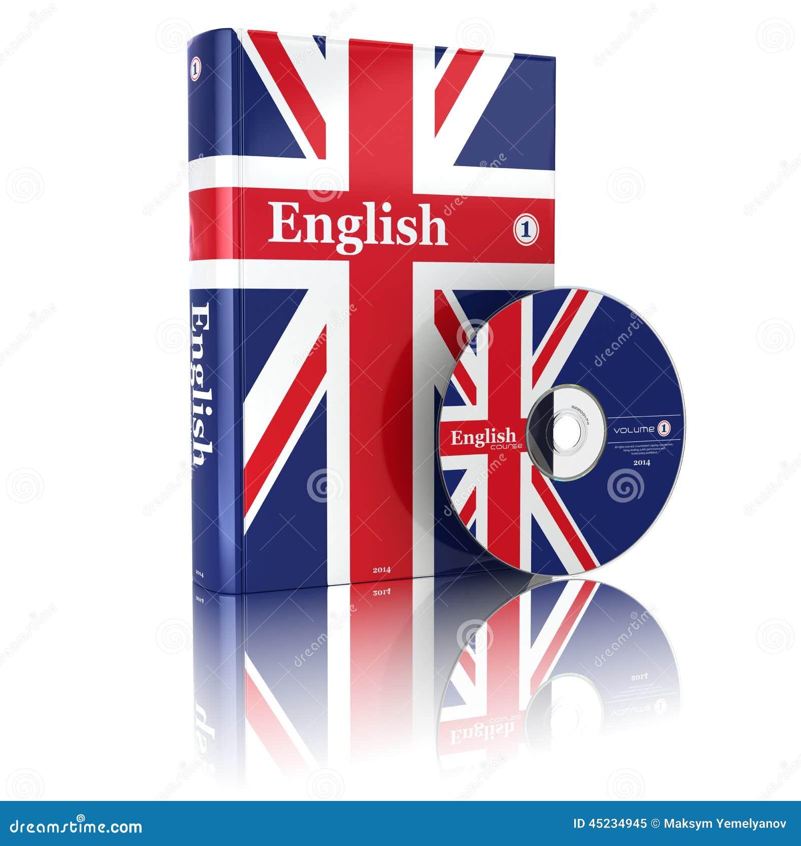 Livre Anglais En Couverture Et Cd De Drapeau National