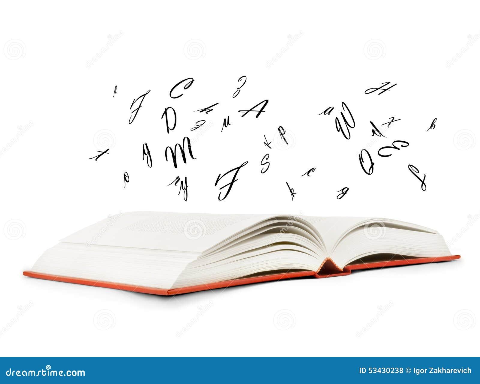 livre lettre Livre Avec Des Lettres Volant Hors De Lui Photo stock   Image du  livre lettre