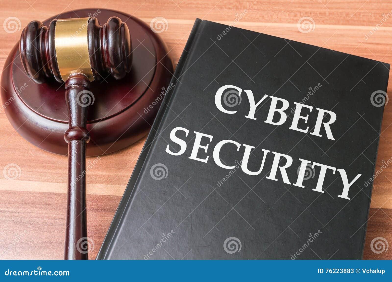 Livre avec des lois sur les valeurs mobilières de cyber Justice et concept de législation