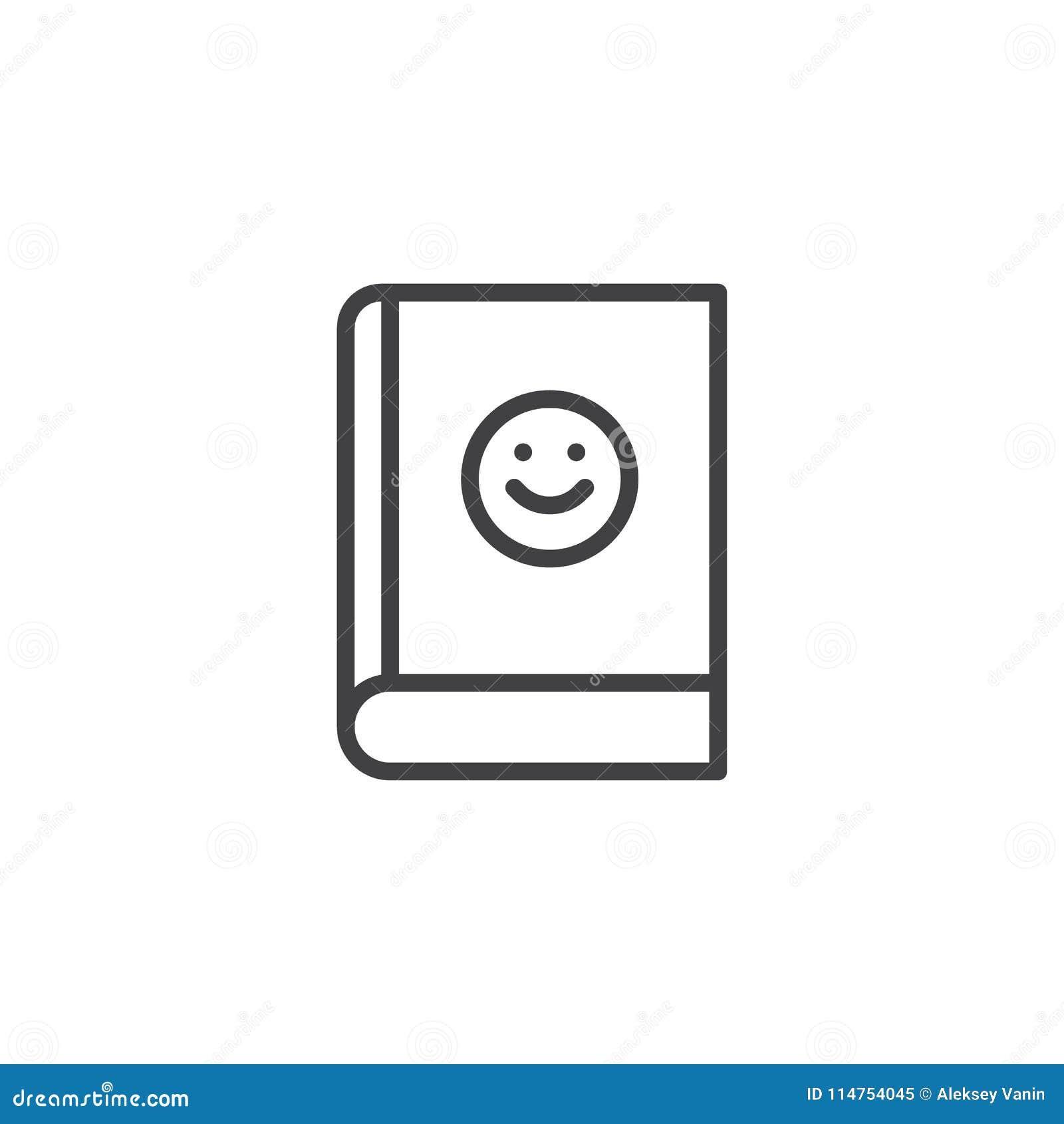 Livre Avec L Icone D Ensemble D Emoji De Sourire