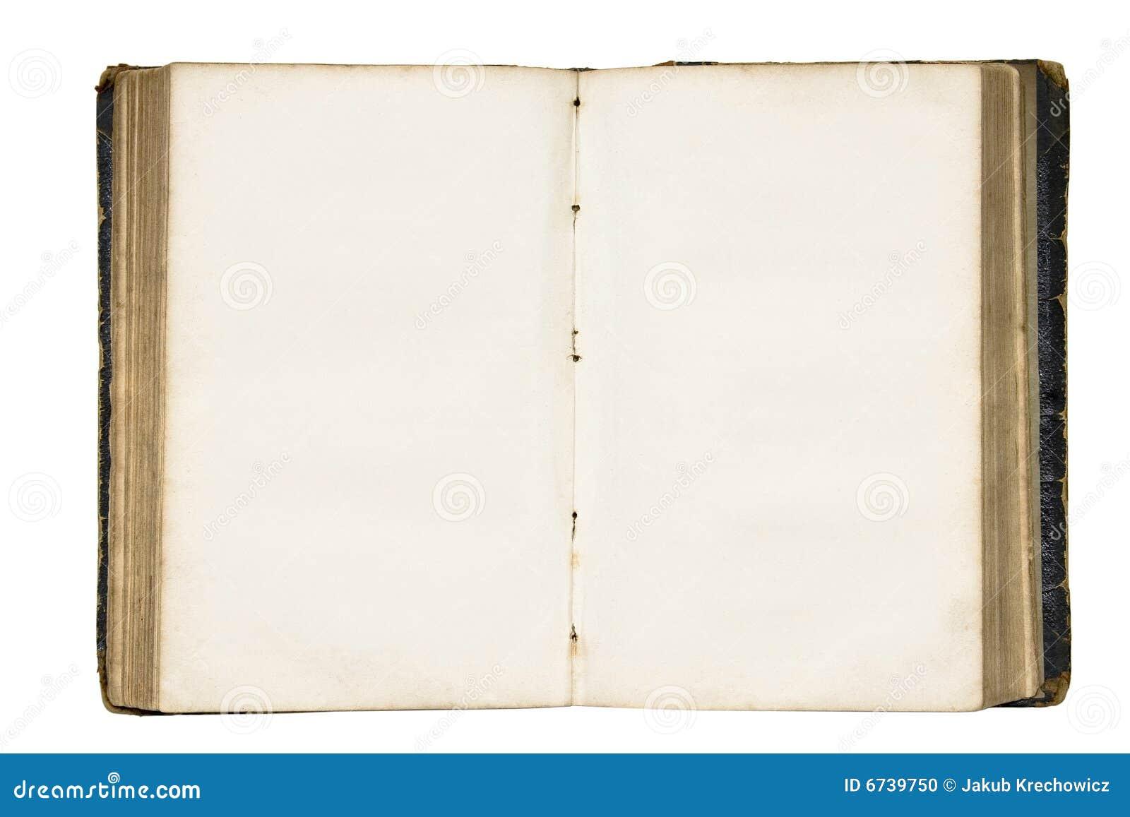 Livre Blanc Coupant Le Vieux Chemin Ouvert Photo Stock