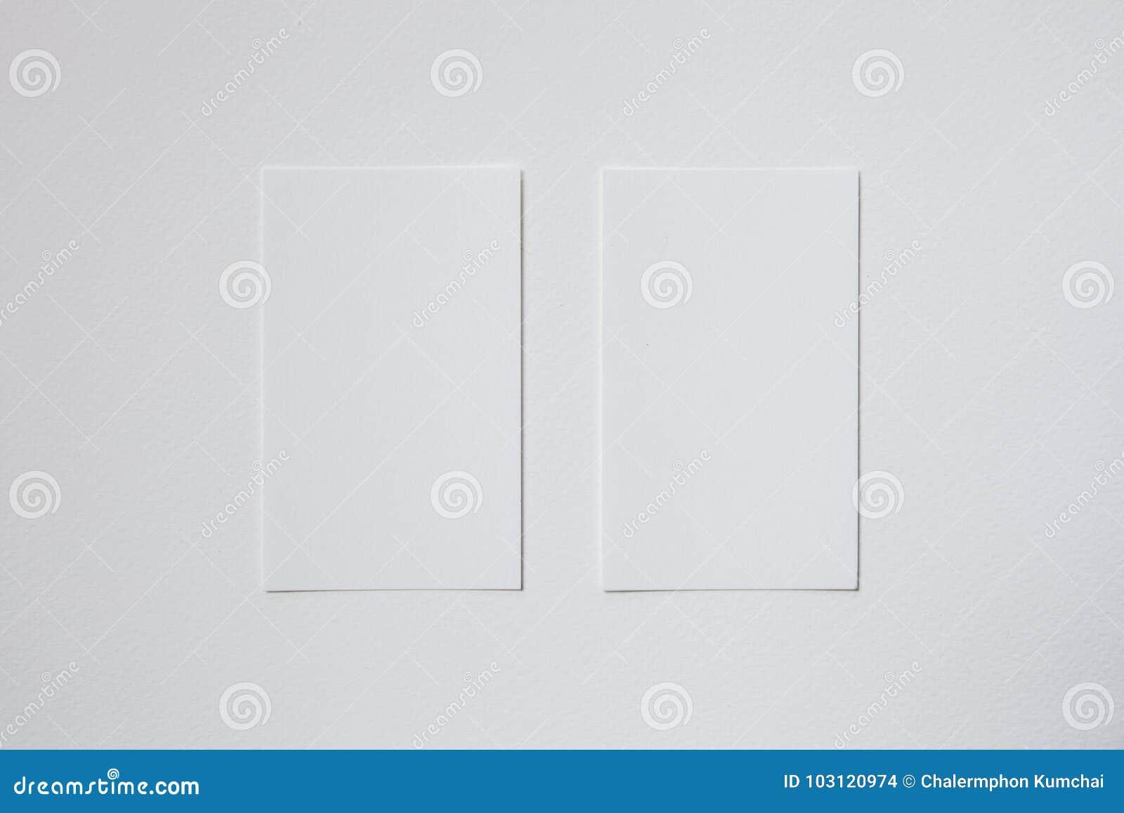 Livre Blanc De Carte De Visite Professionnelle Vierge De