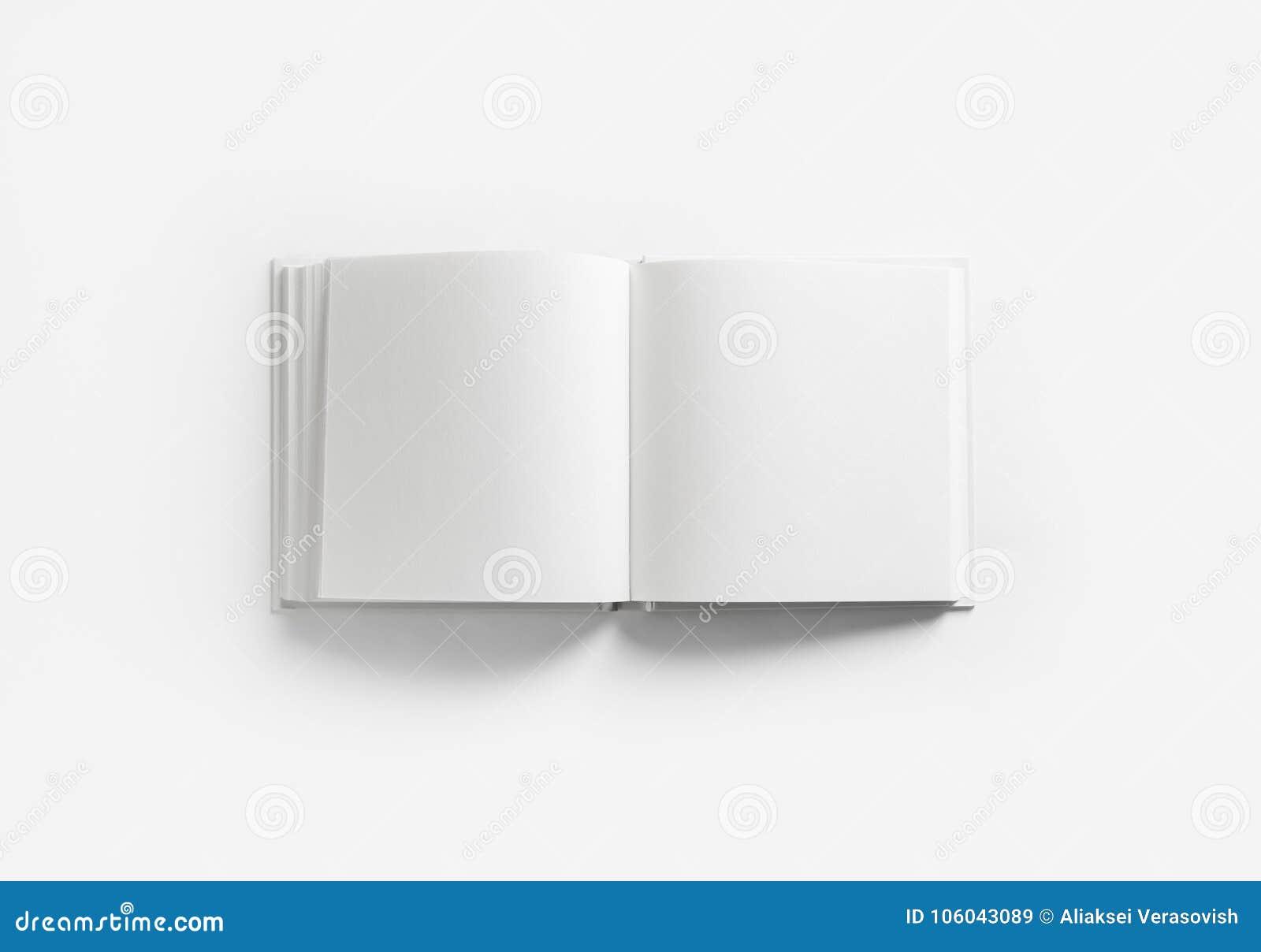 Livre Blanc Ouvert Image Stock Image Du Objet Impression