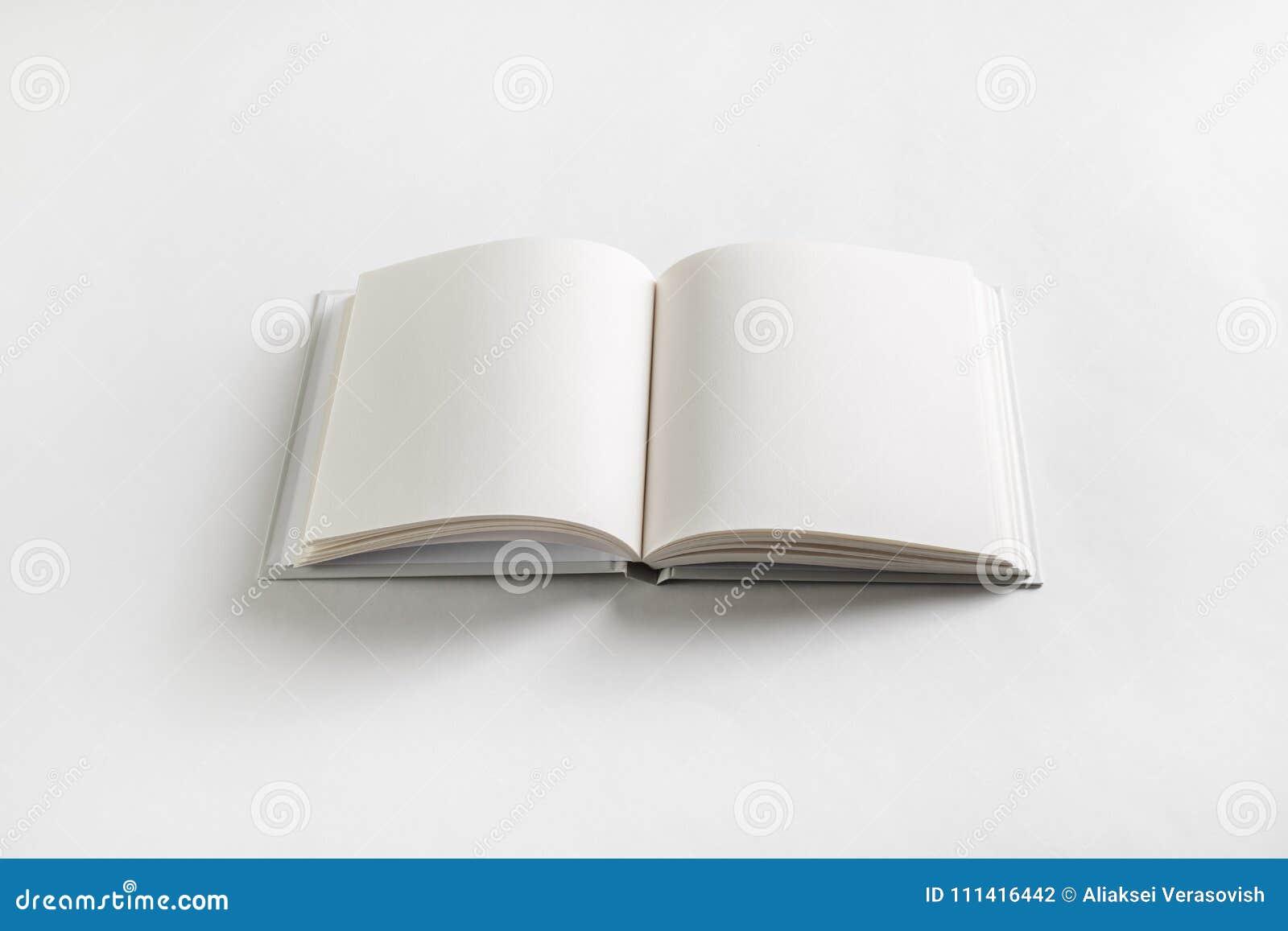 Livre Blanc Ouvert Photo Stock Image Du Copie Fond 111416442