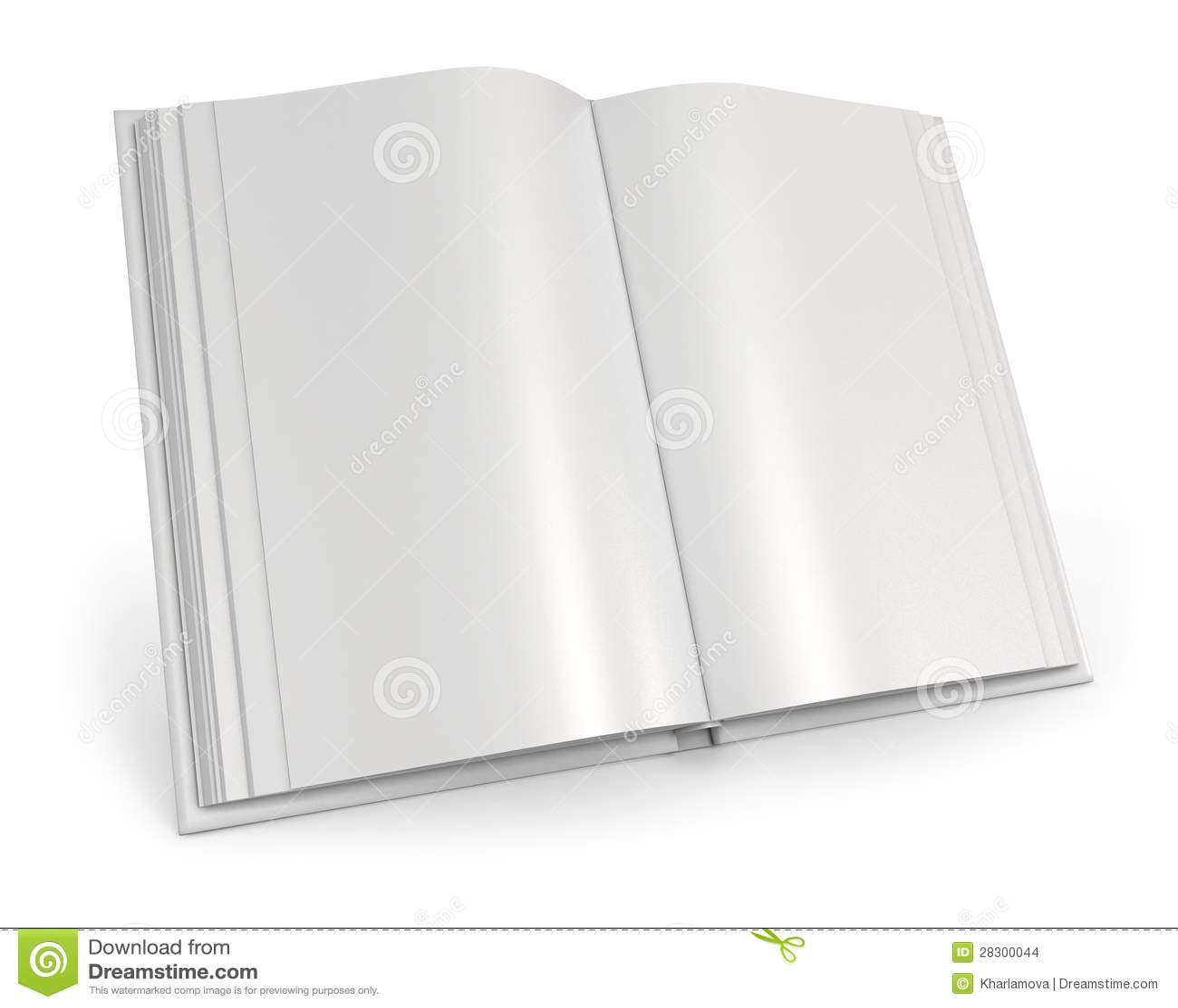 Livre Blanc Ouvert De Illustration Stock Illustration Du