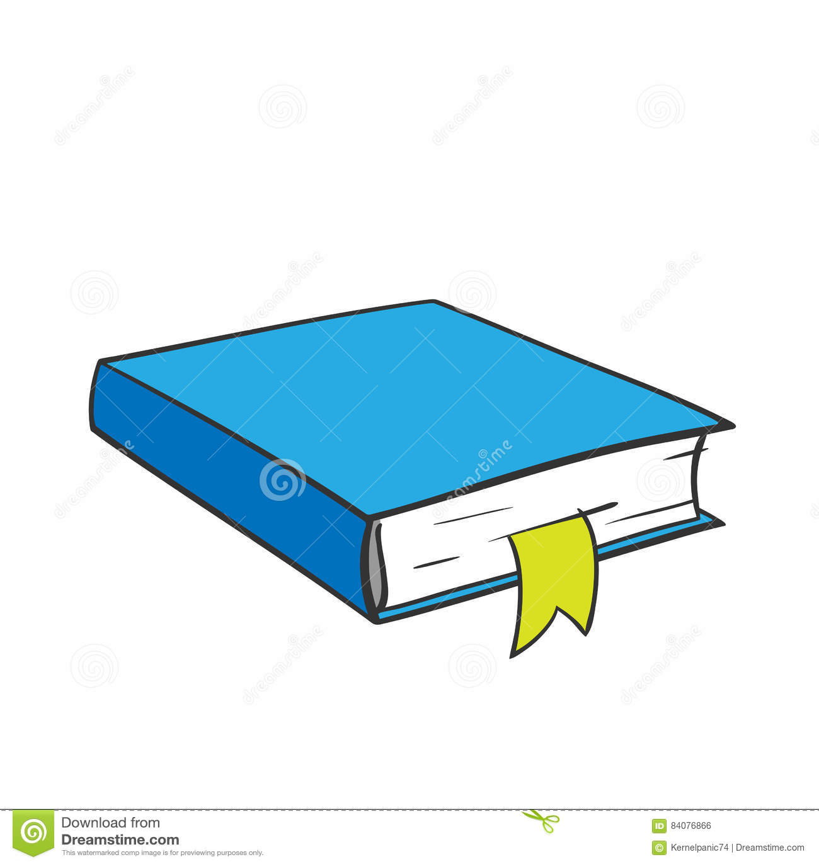 Livre Bleu De Bande Dessinee Illustration De Vecteur