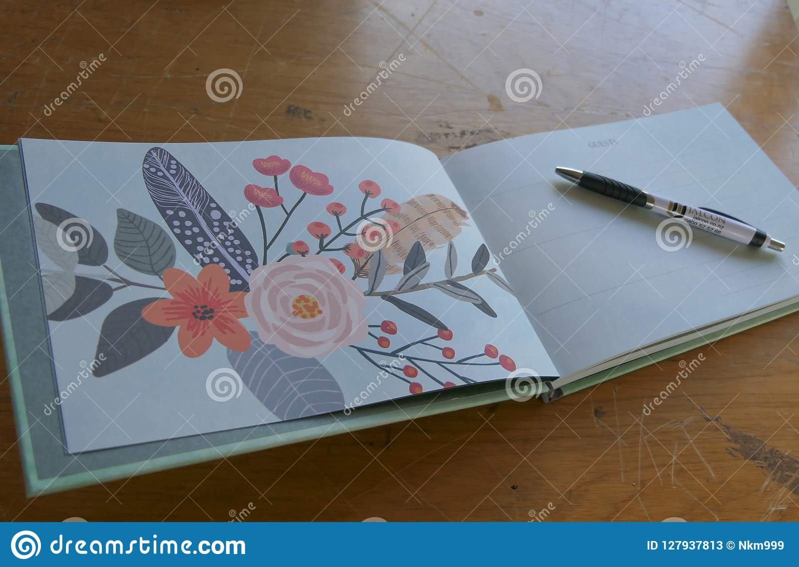 Livre commémoratif à un enterrement