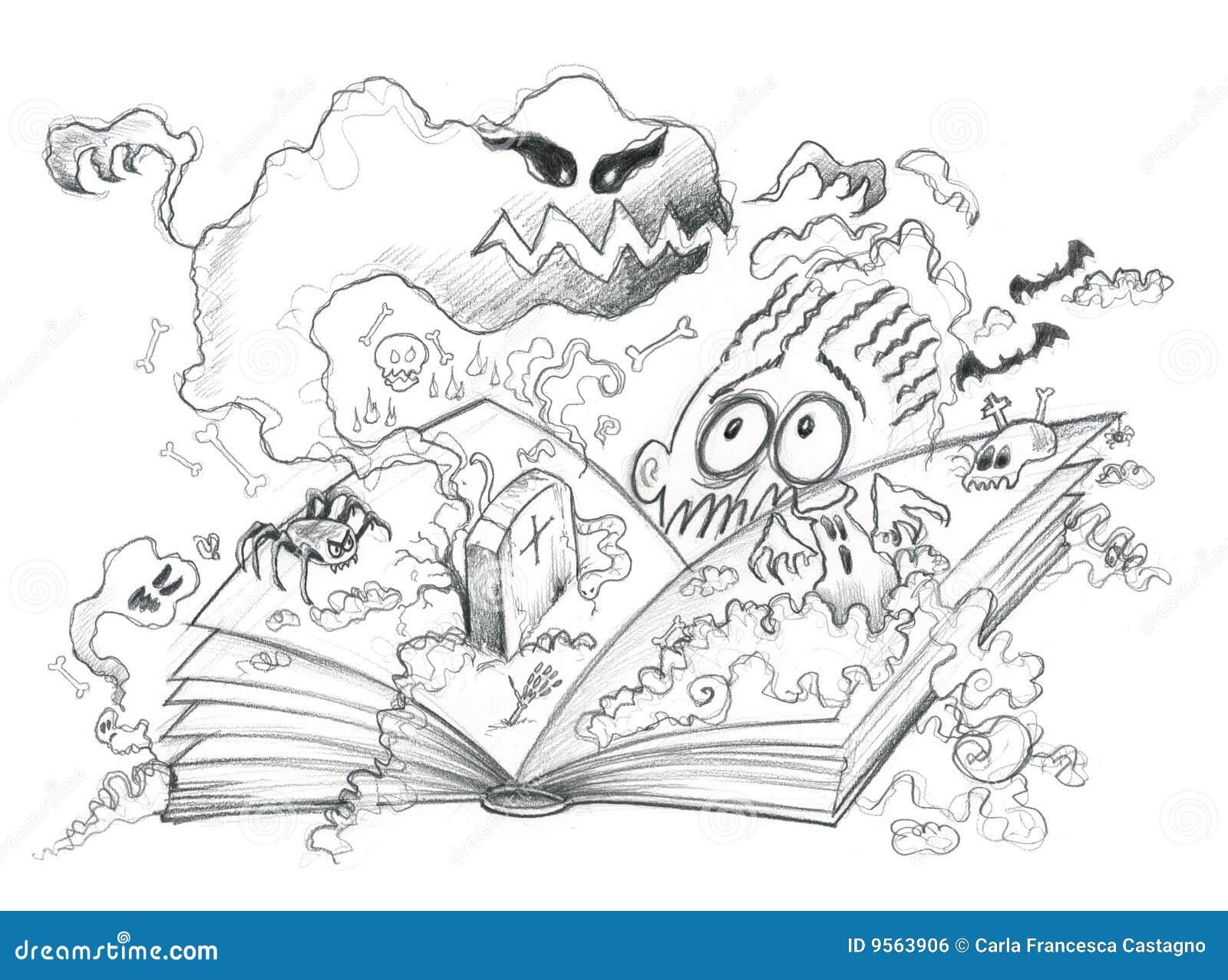 Livre D Horreur Illustration De Vecteur Illustration Du
