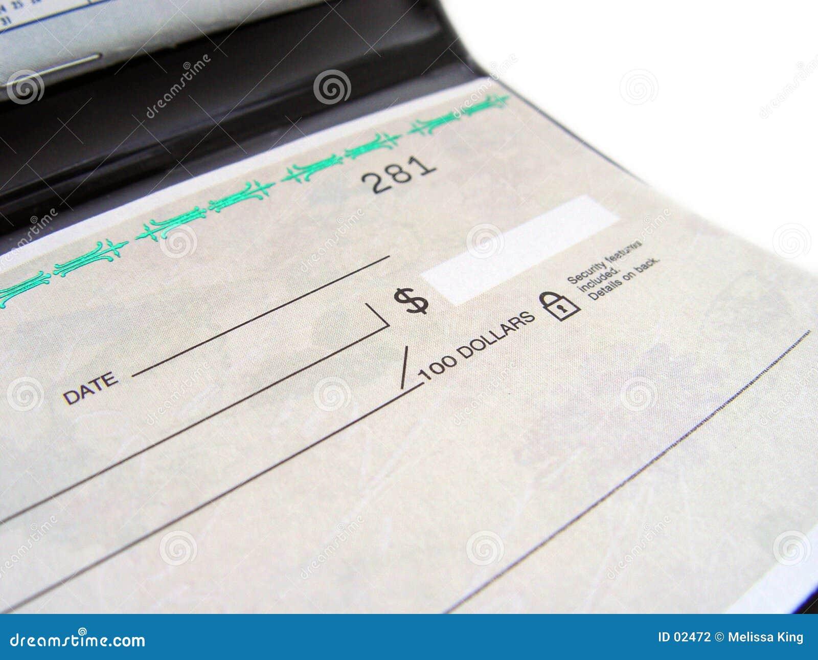 Livre de chèque