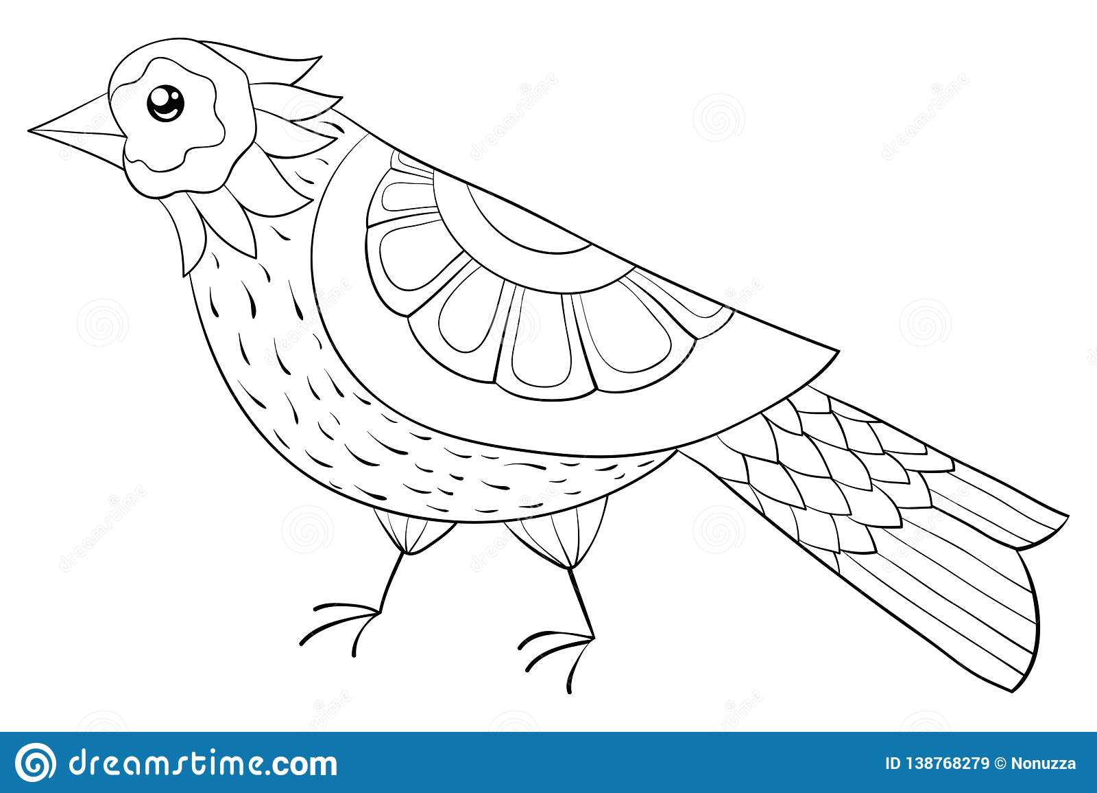 Livre De Coloriage Adulte, Page Une Image Mignonne D'oiseau Pour La Détente  Illustration D'art De Zen Illustration de Vecteur - Illustration du dessin,  floral: 138768279