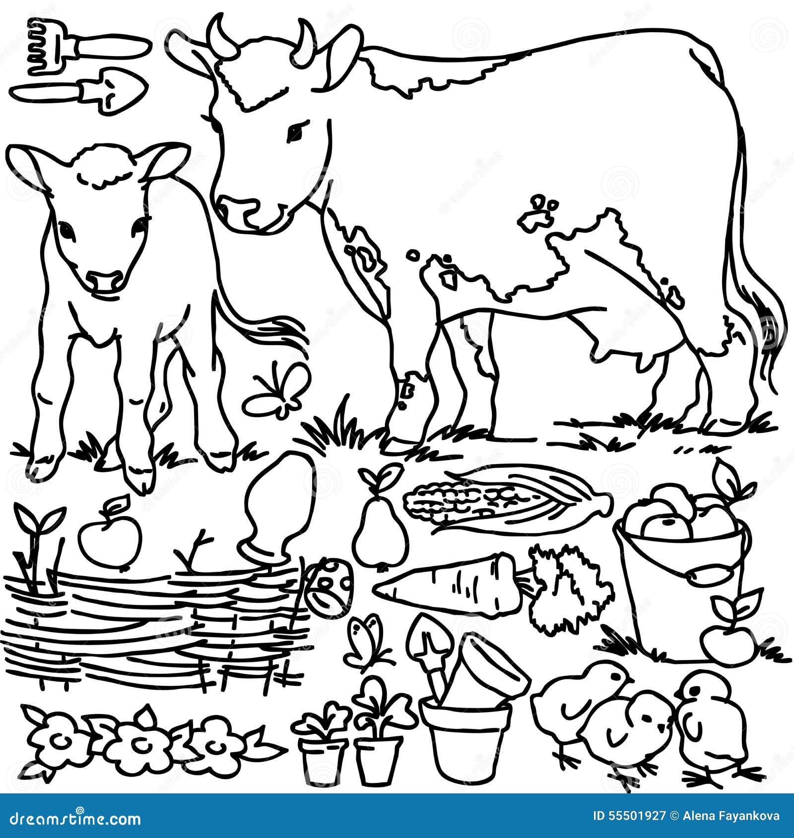 Livre de coloriage animaux de ferme de bande dessin e - Coloriage d animaux de la ferme ...