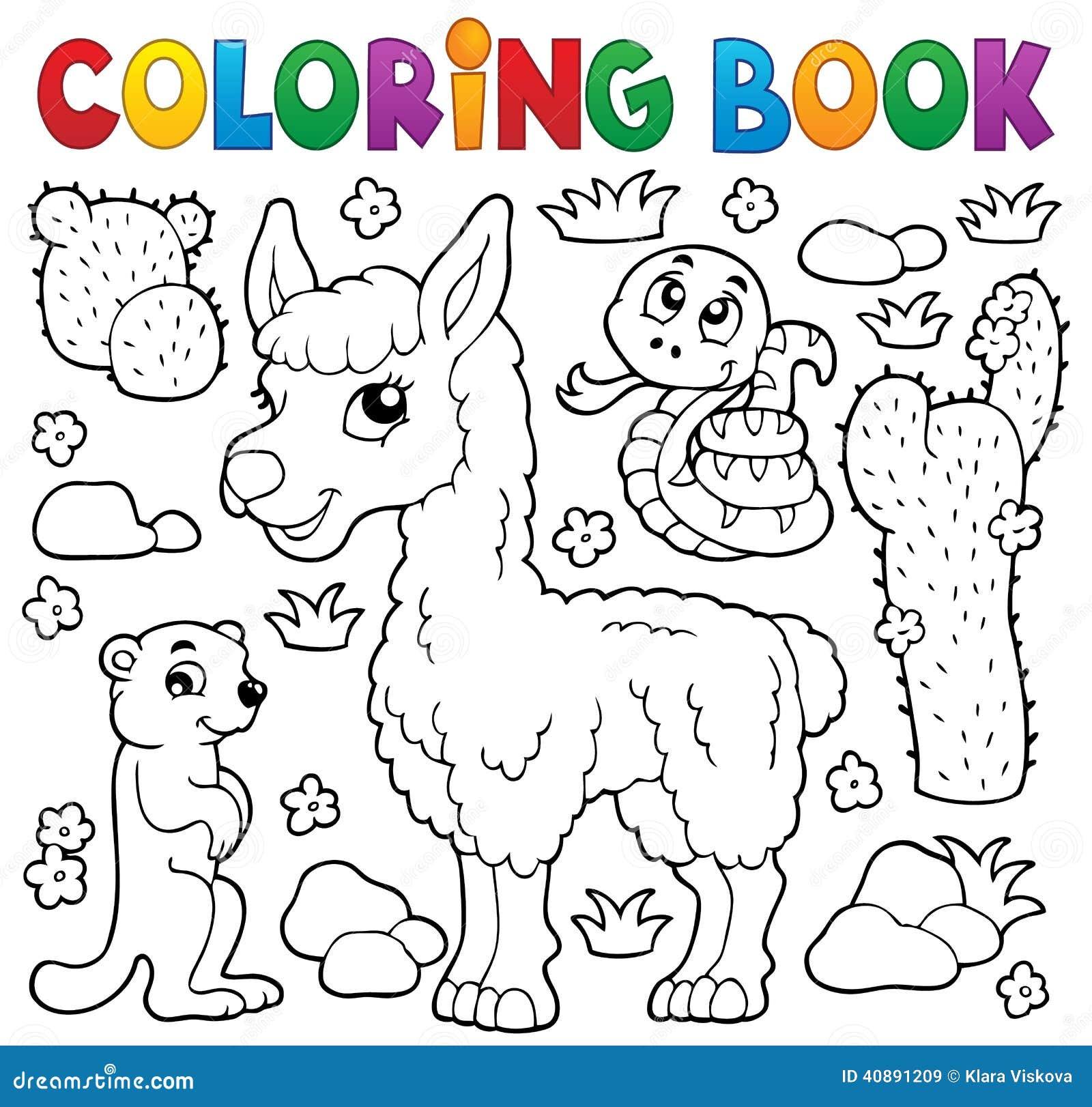 Livre De Coloriage Avec Les Animaux Mignons 4 Illustration De