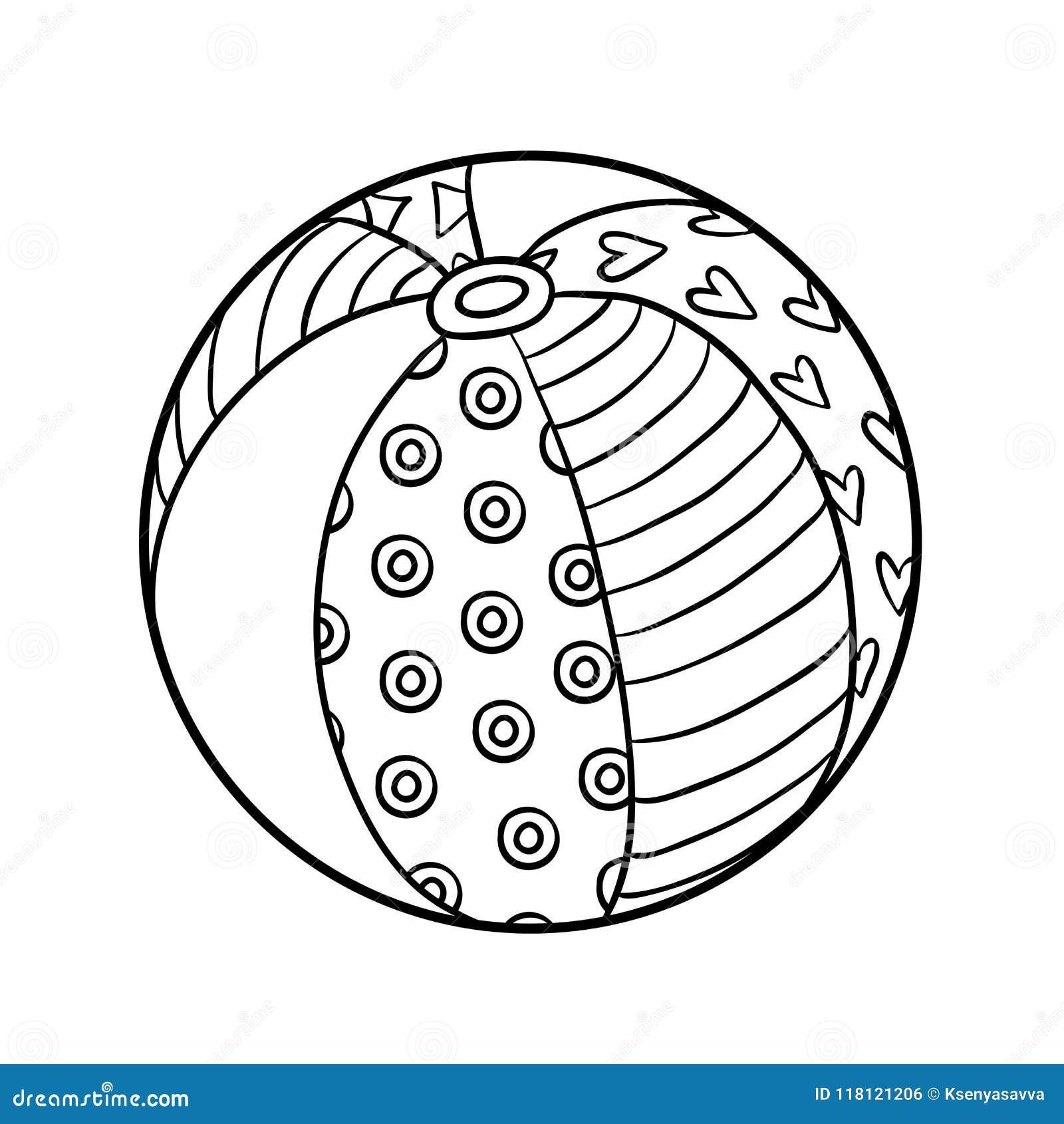 Ballon Pour Coloriage.Livre De Coloriage Ballon De Plage Illustration De Vecteur