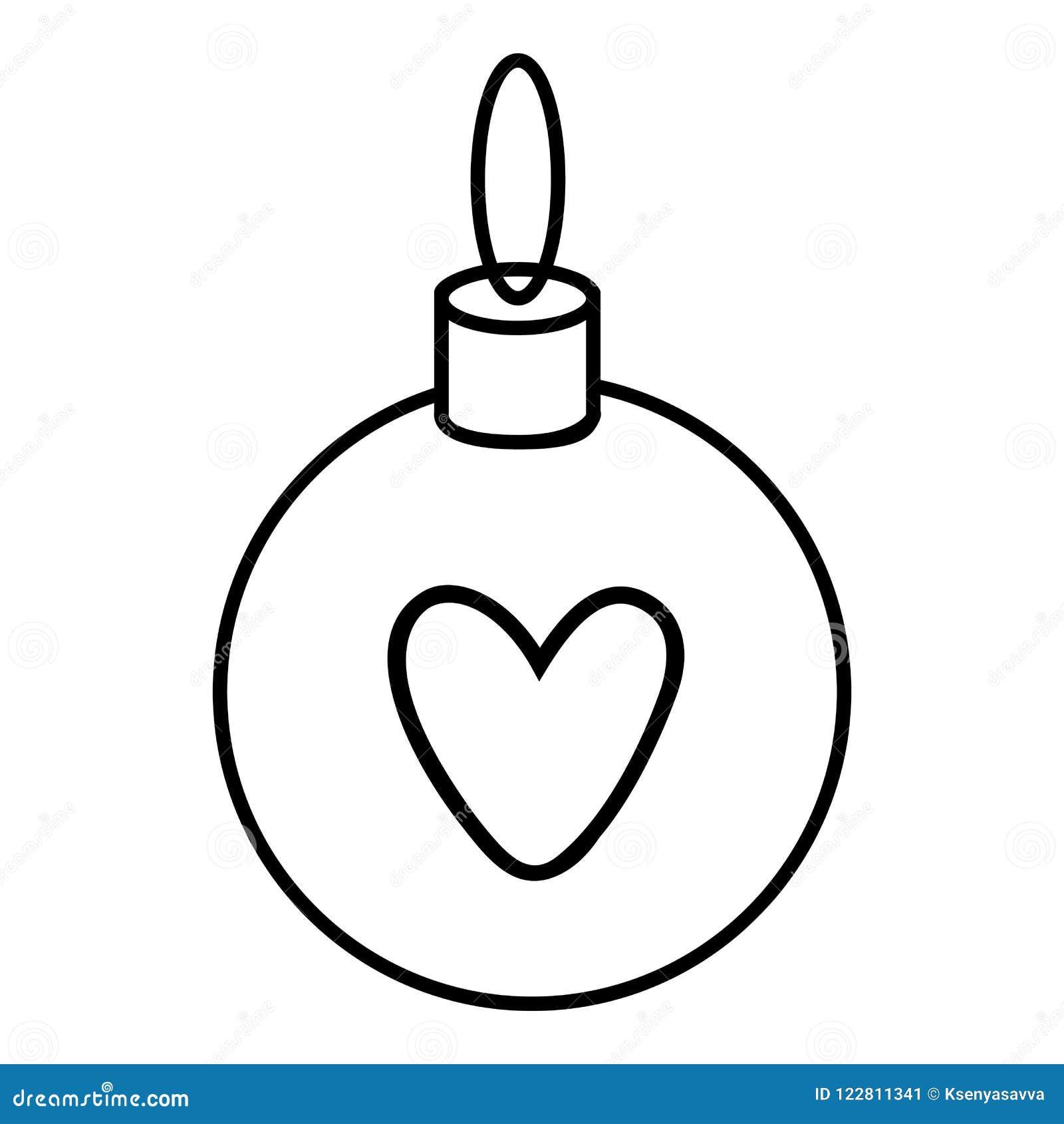 Dessin Boule De Noel.Livre De Coloriage Boule De Noël Illustration De Vecteur