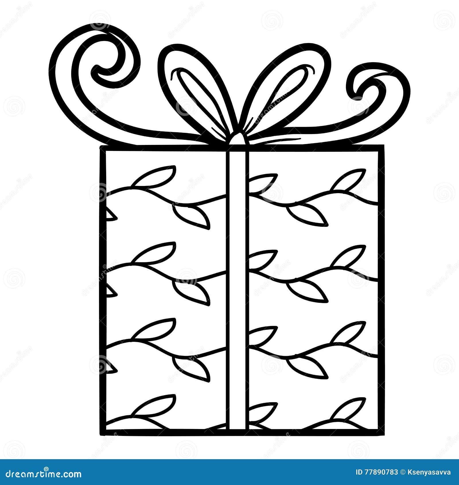 Livre De Coloriage Cadeau Illustration De Vecteur Illustration Du