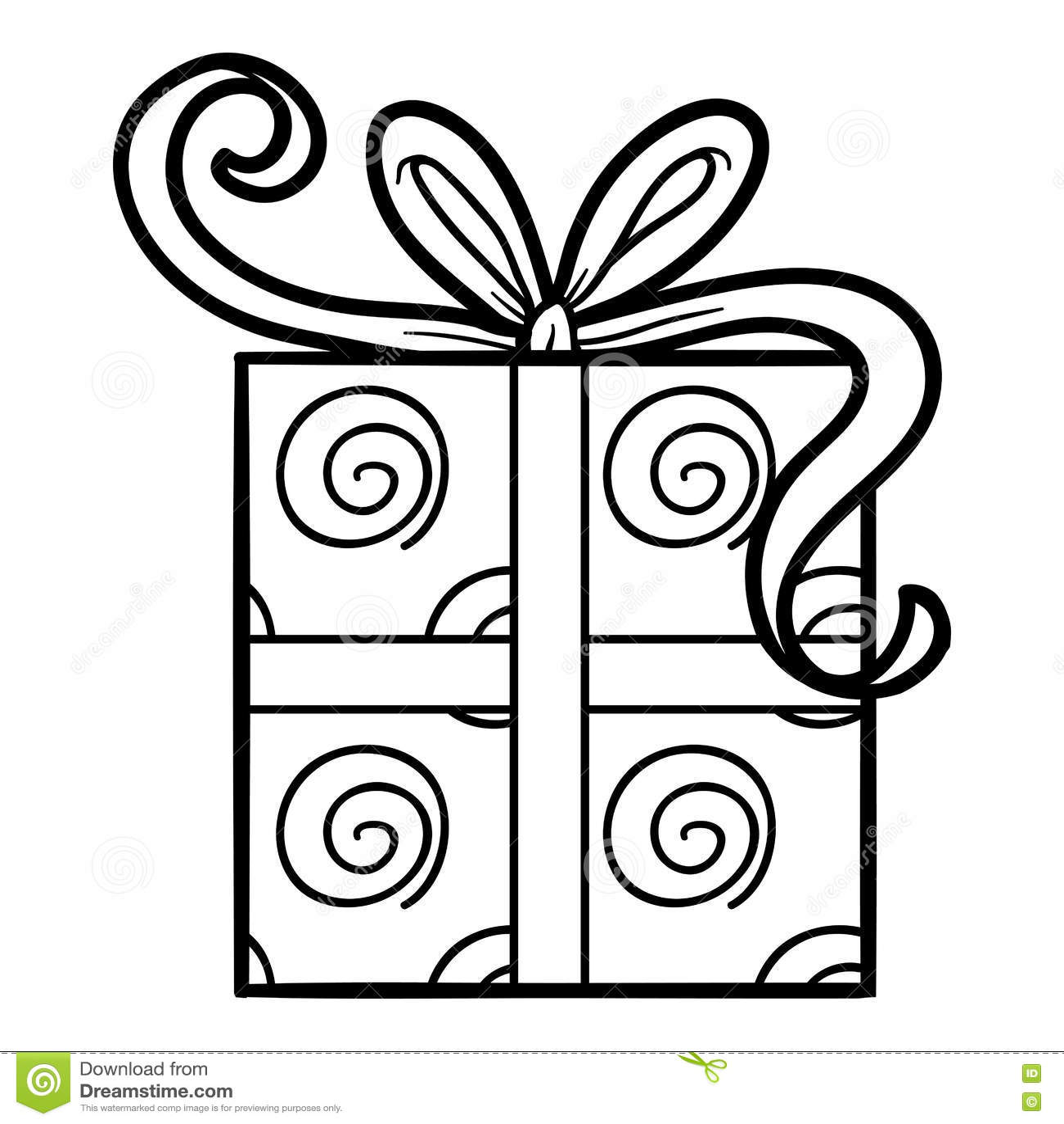 Livre de coloriage cadeau illustration de vecteur - Cadeau coloriage ...